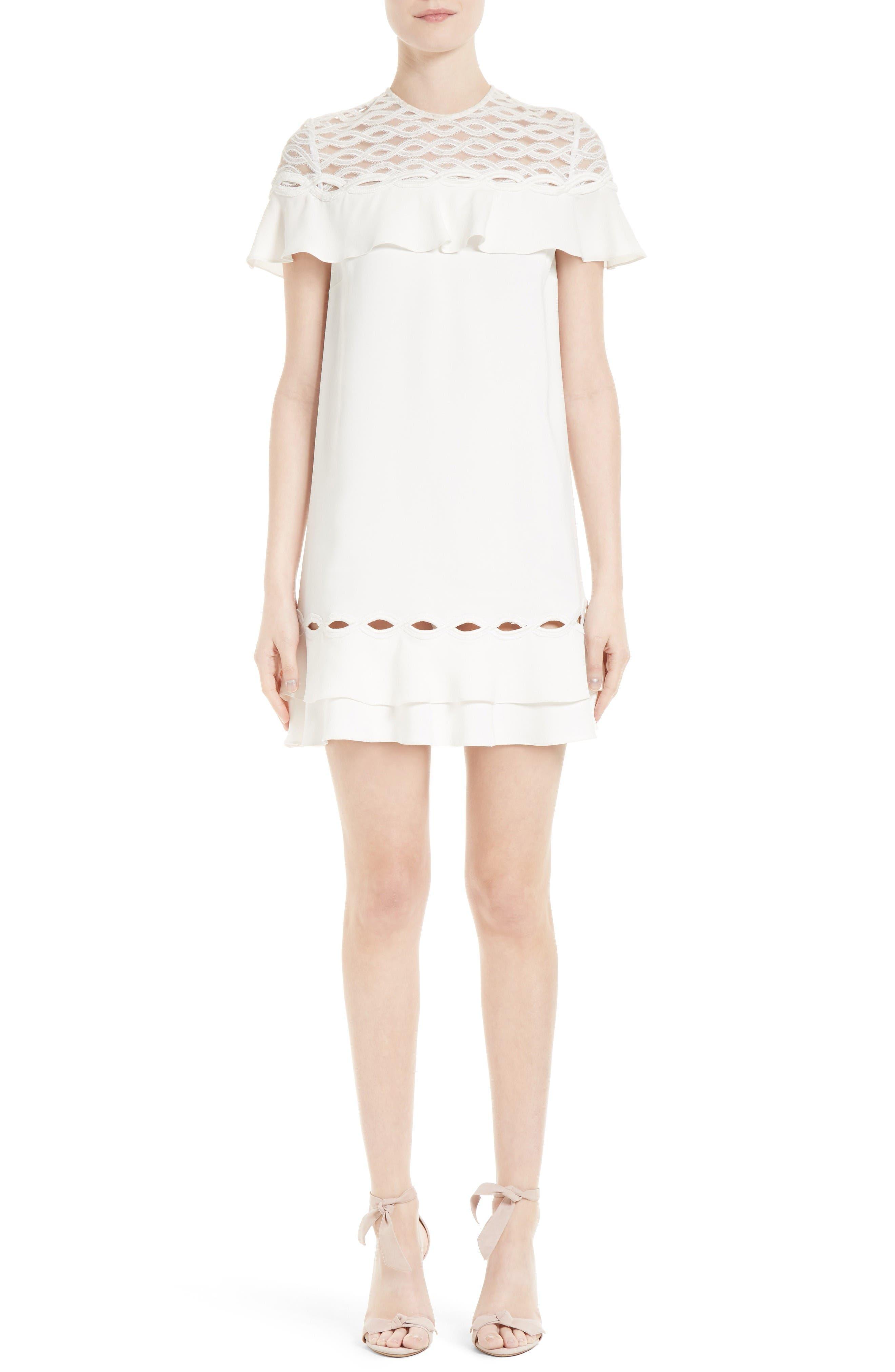 Alternate Image 1 Selected - Jonathan Simkhai Rope Appliqué Ruffle Dress