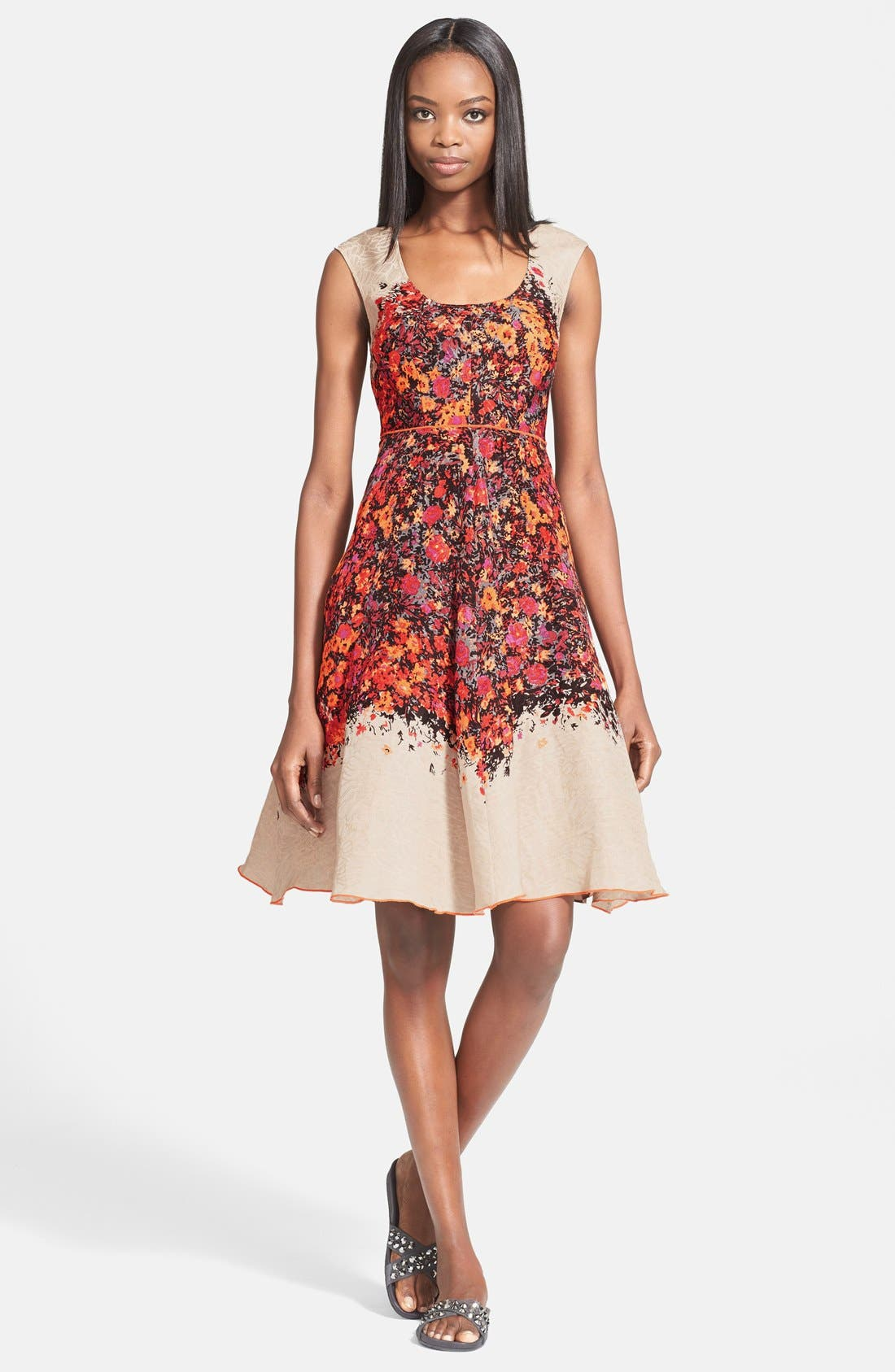 Alternate Image 1 Selected - Tracy Reese Floral Print Fit & Flare Dress