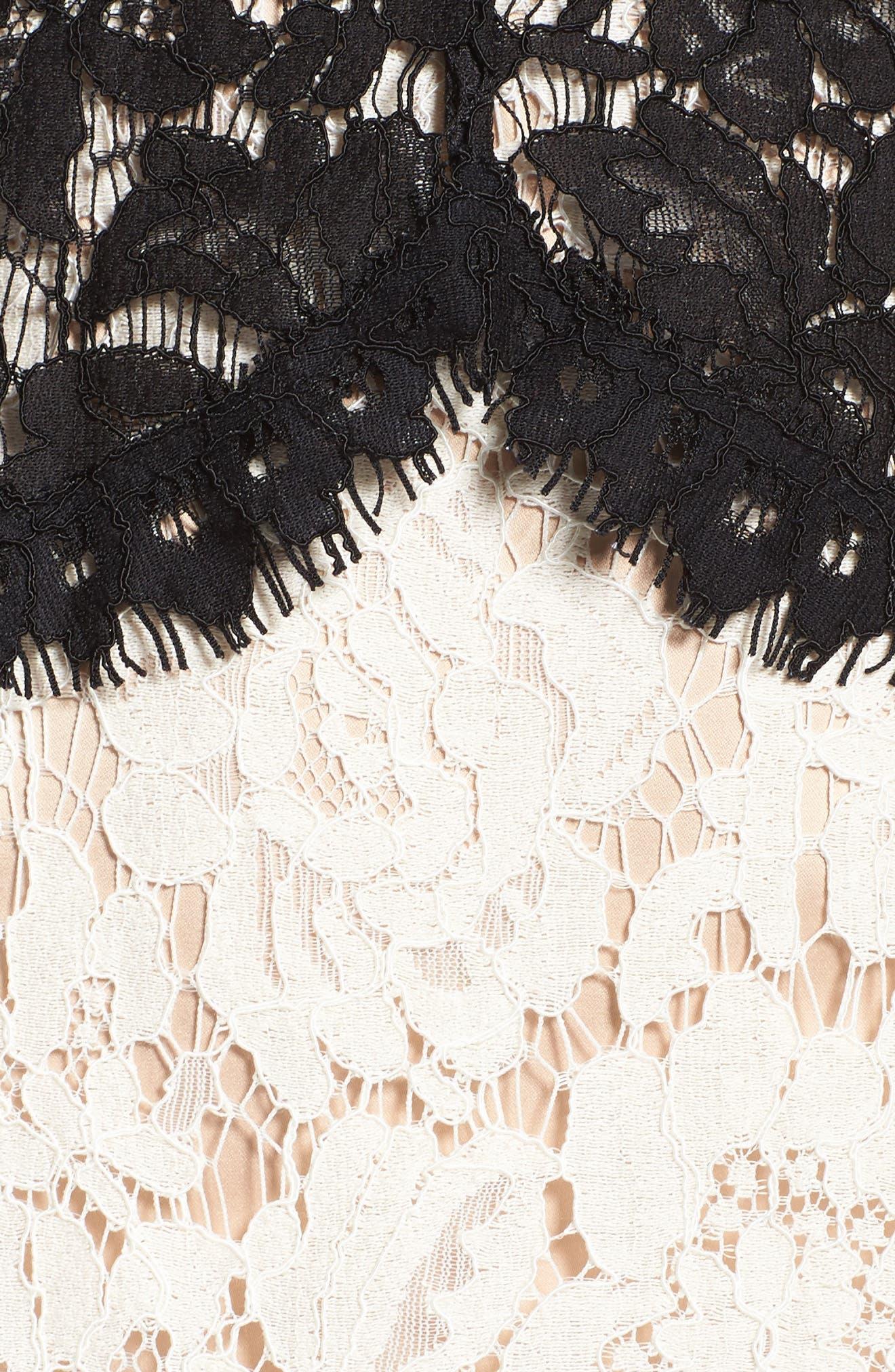 Alternate Image 6  - Eliza J Lace Sheath Dress