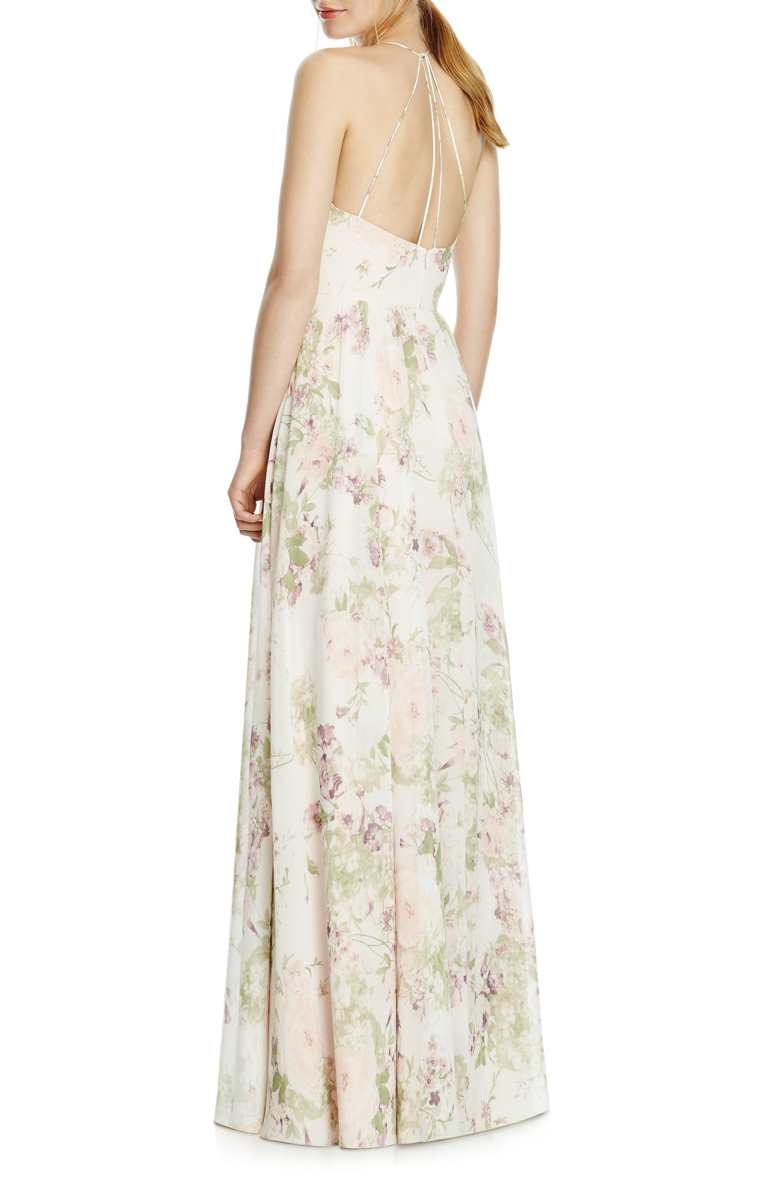 Alternate Image 2  - JY Jenny Yoo Chiffon A-Line Gown