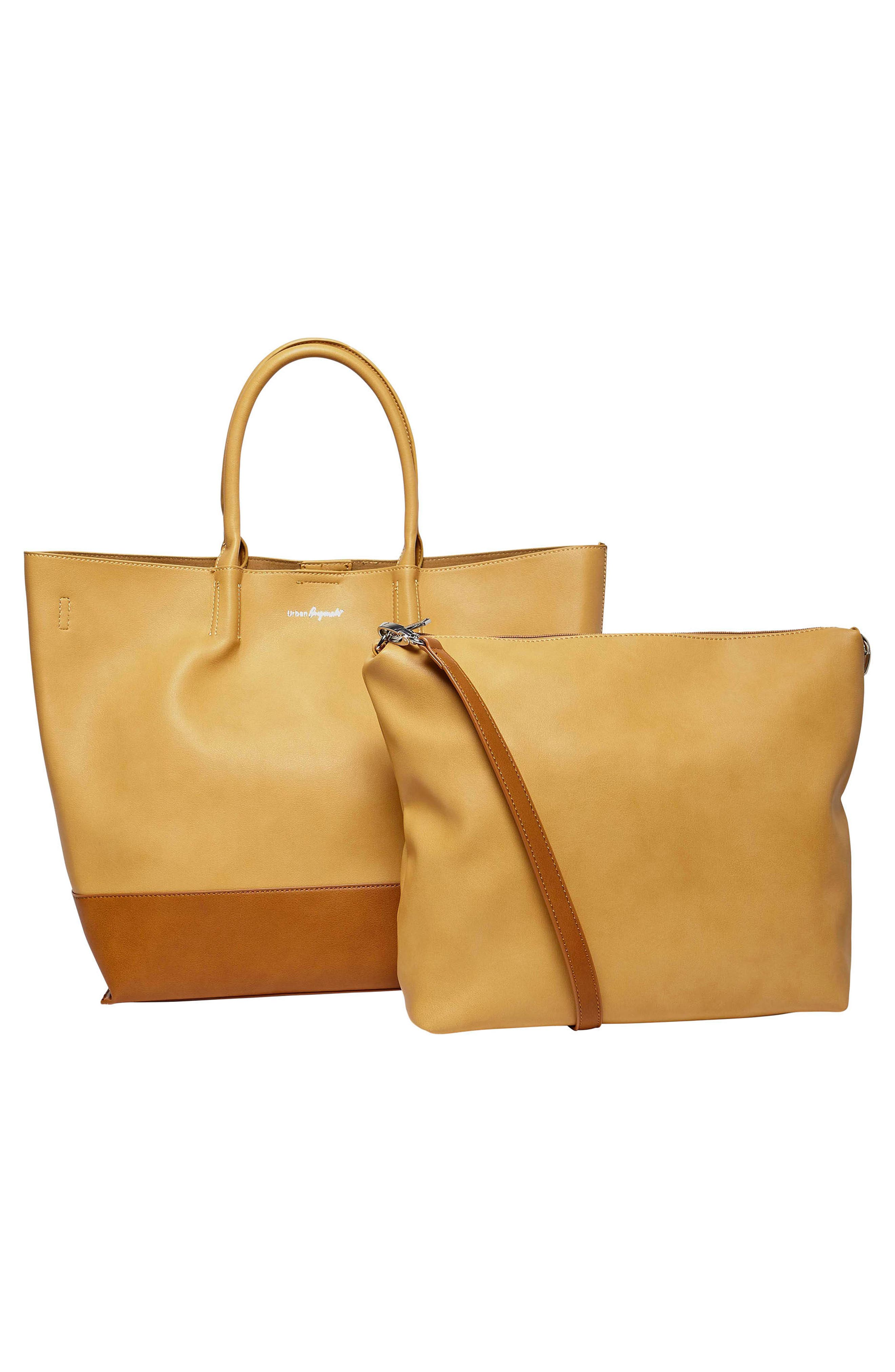 Alternate Image 3  - Urban Originals Revenge Colorblock Faux Leather Tote