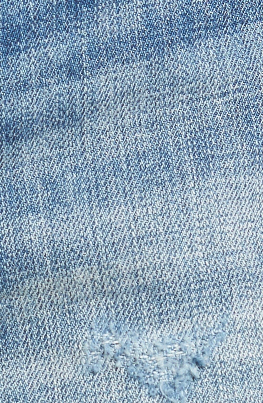 Alternate Image 6  - BLANKNYC Embroidered Denim Shorts (Whild Child)