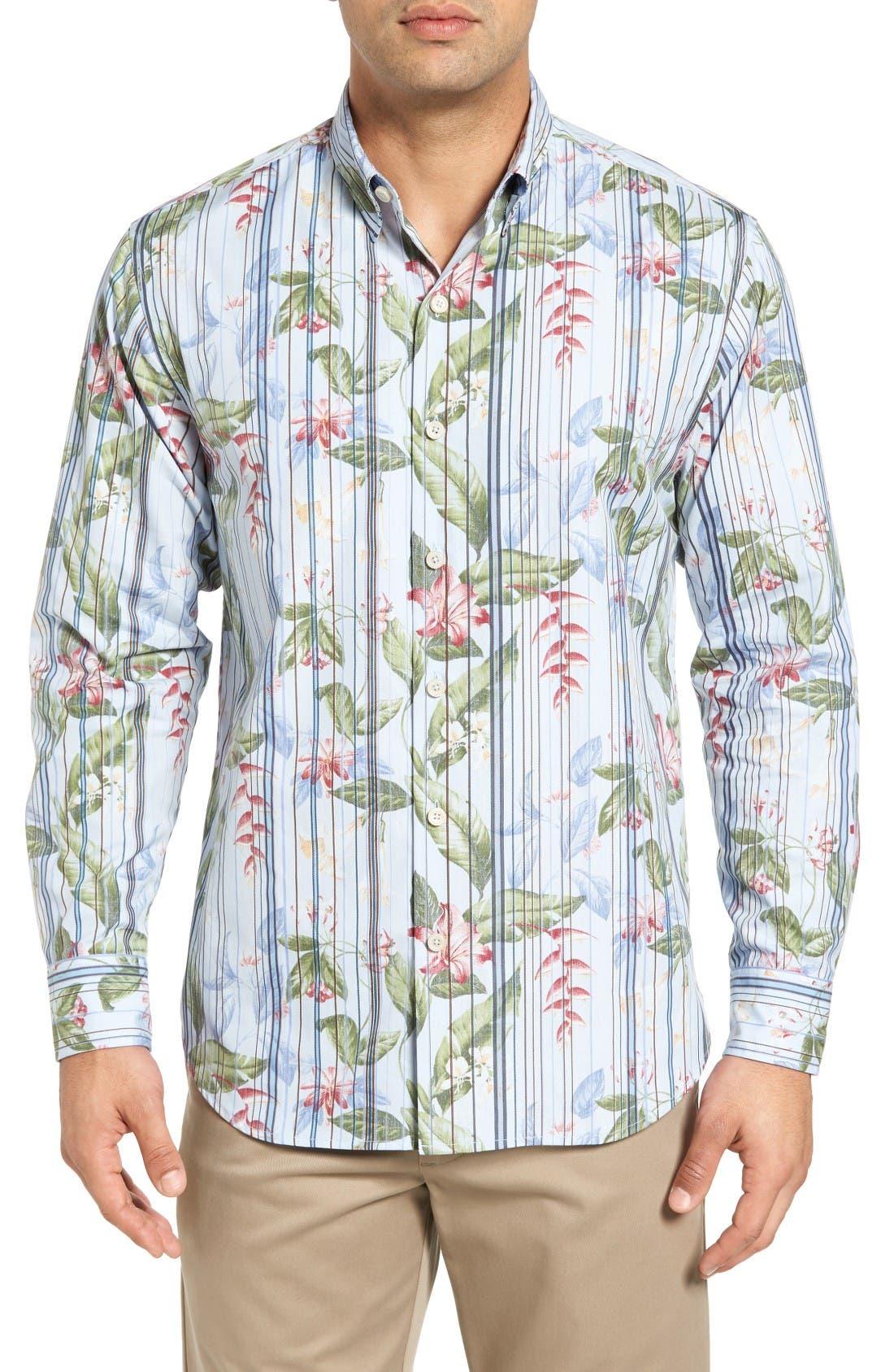Tommy Bahama Jungle Mist Sport Shirt (Big & Tall)
