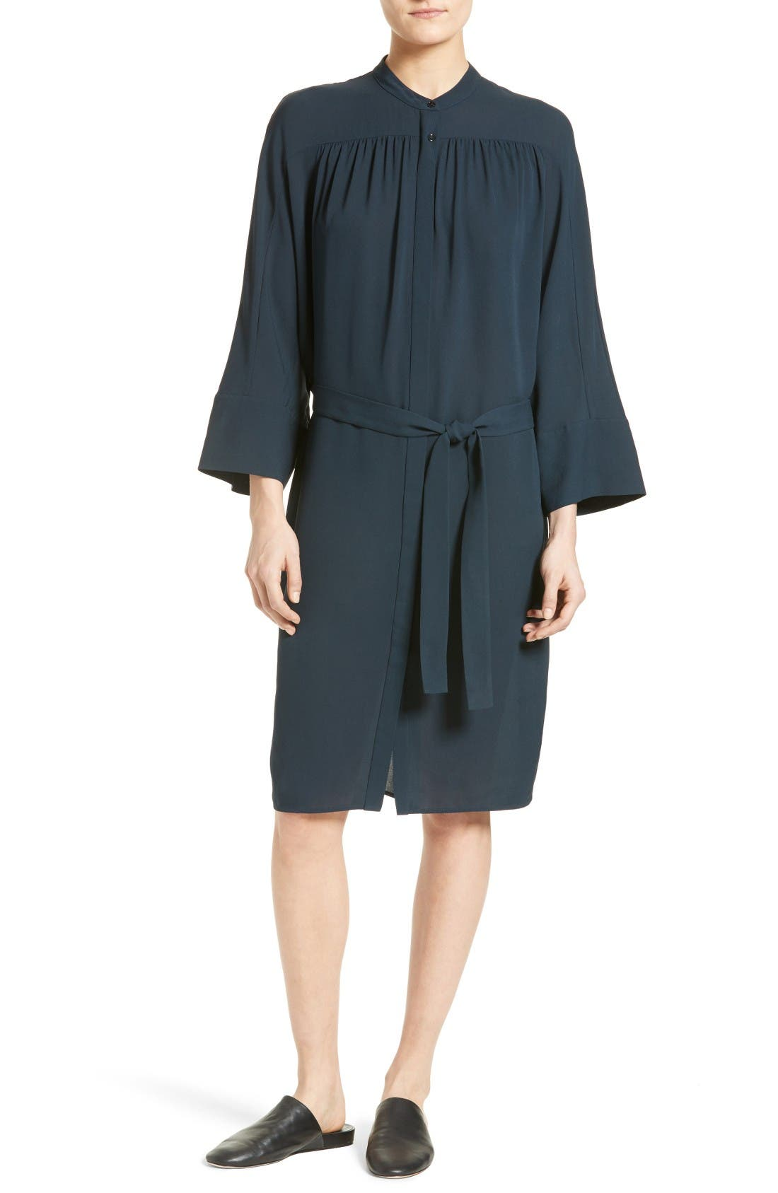 Vince Silk Shirtdress