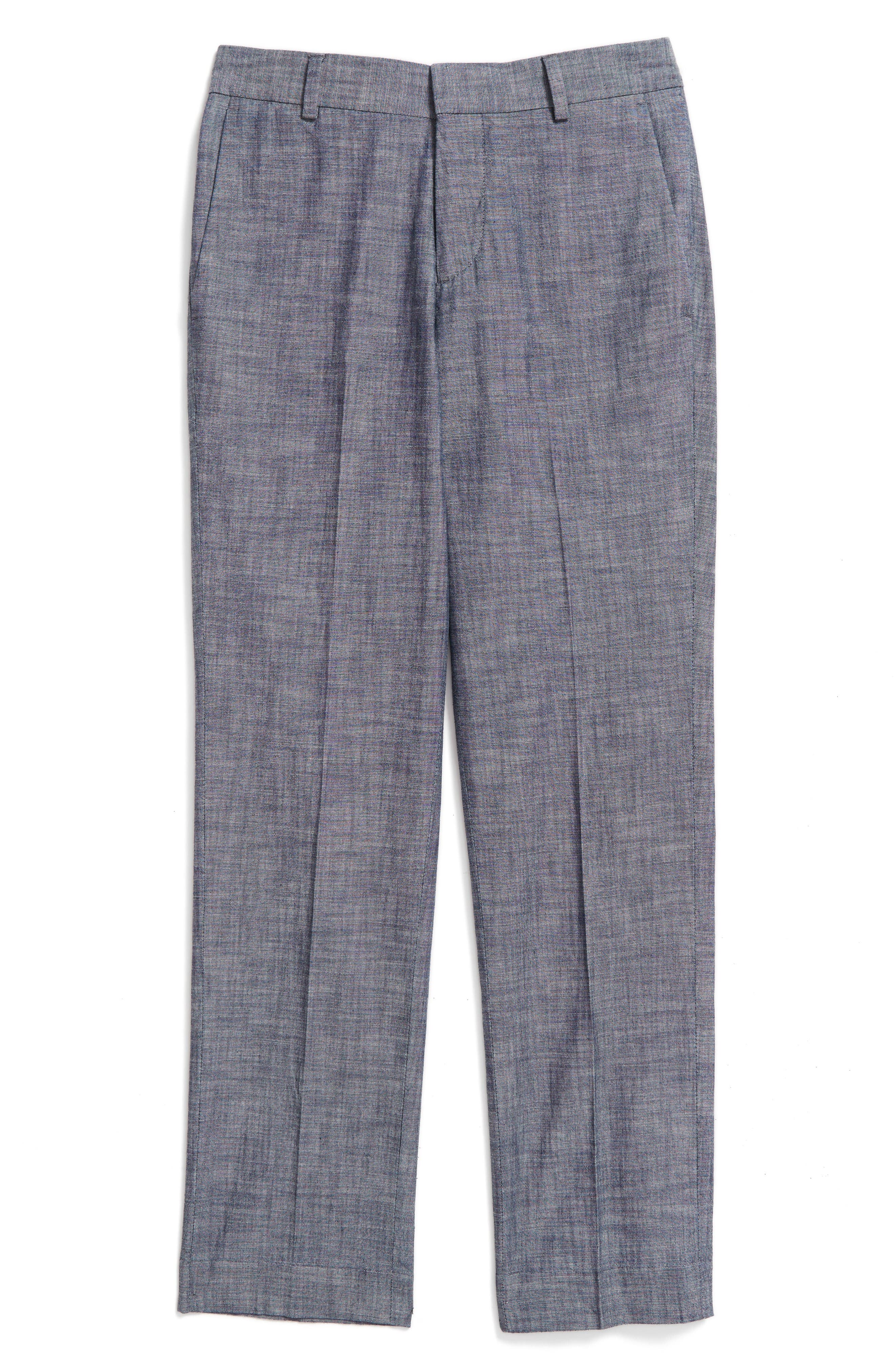 NORDSTROM Chambray Slim Fit Pants