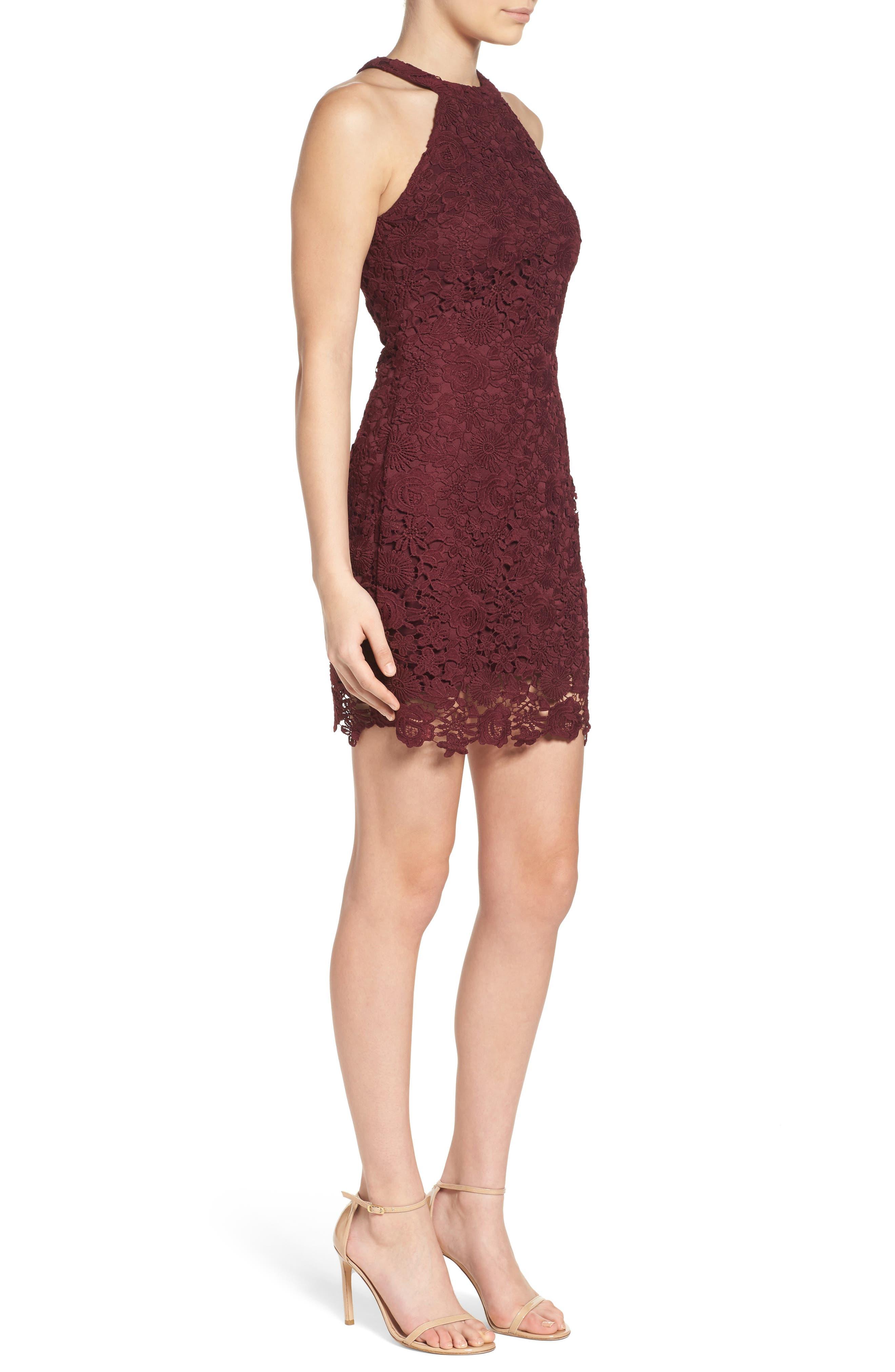 Alternate Image 3  - Lulus Lace Halter Dress