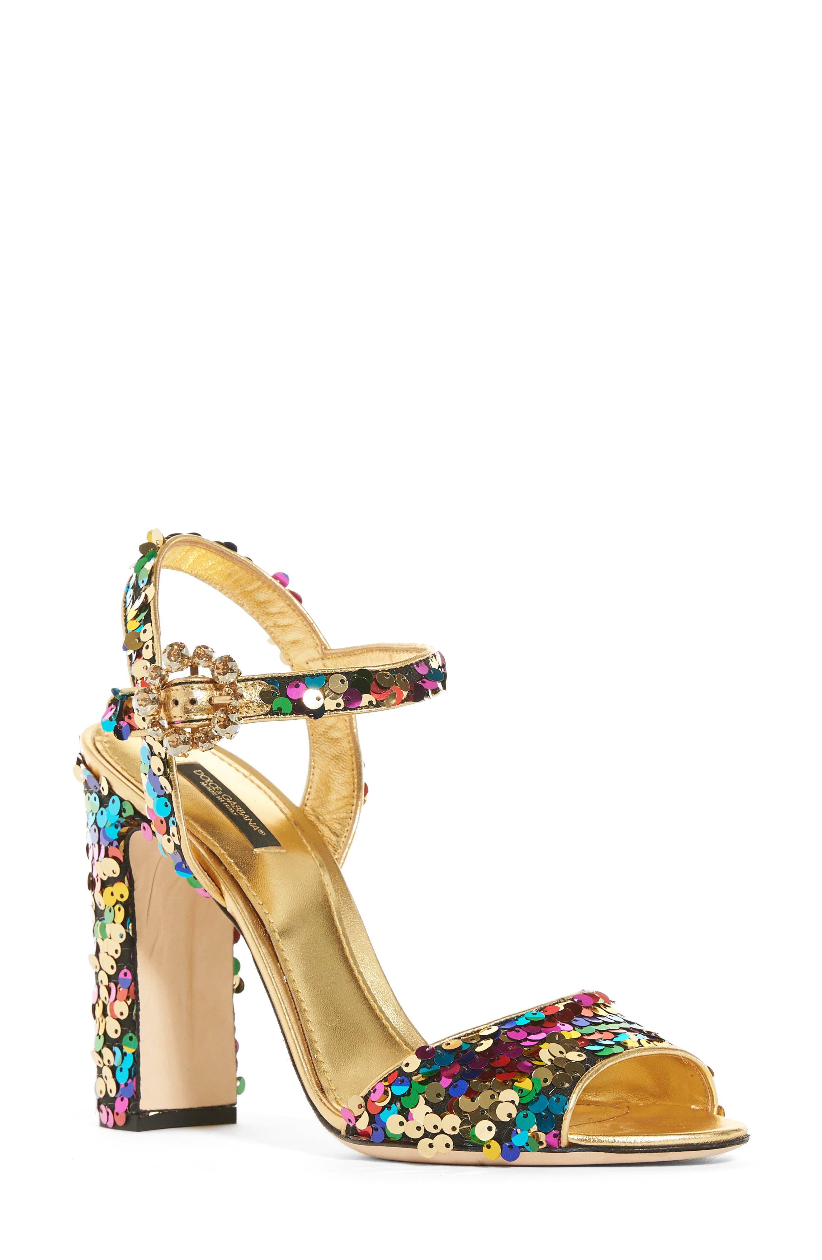 Alternate Image 1 Selected - Dolce&Gabbana Sequin Sandal (Women)