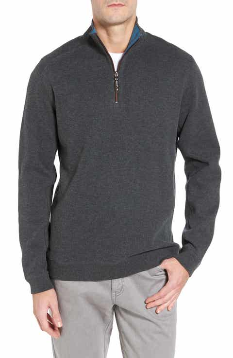 Tommy Bahama 'New Flip Side Pro' Reversible Quarter Zip Sweater (Big   Tall)