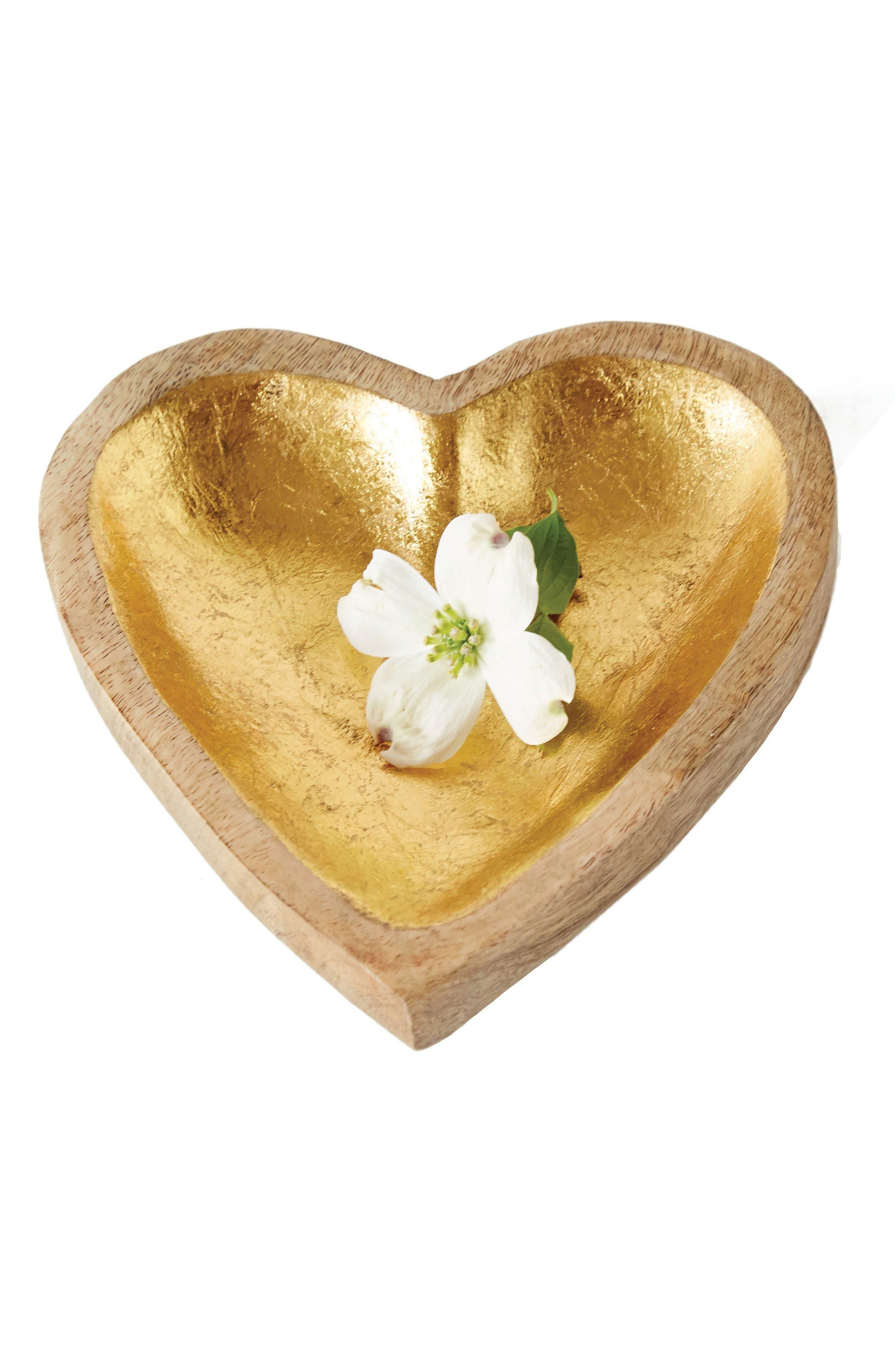 Creative Co-Op Wood Heart Tray