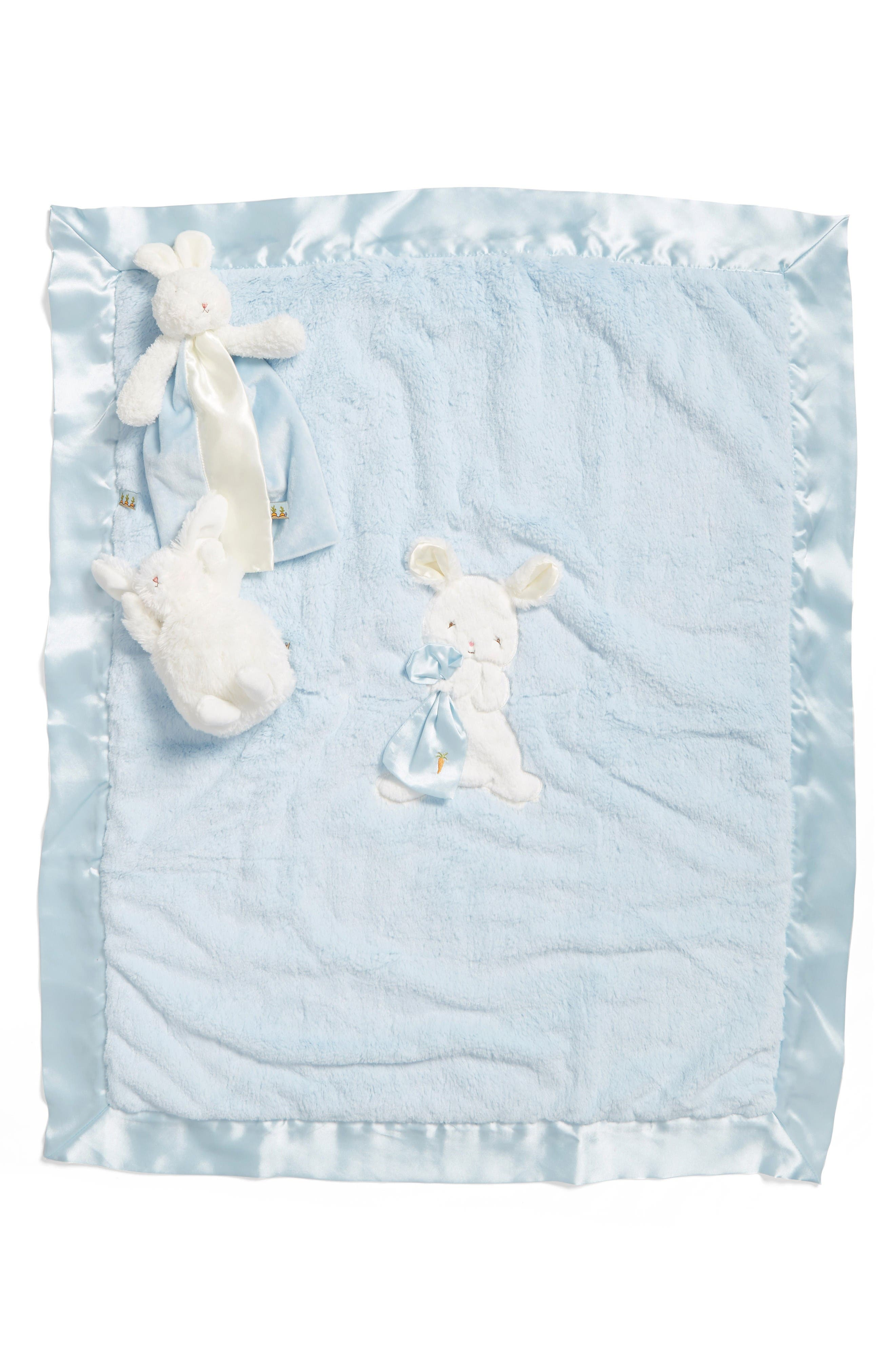 Bunnies by the Bay Stroller Blanket, Lovey & Stuffed Animal Set