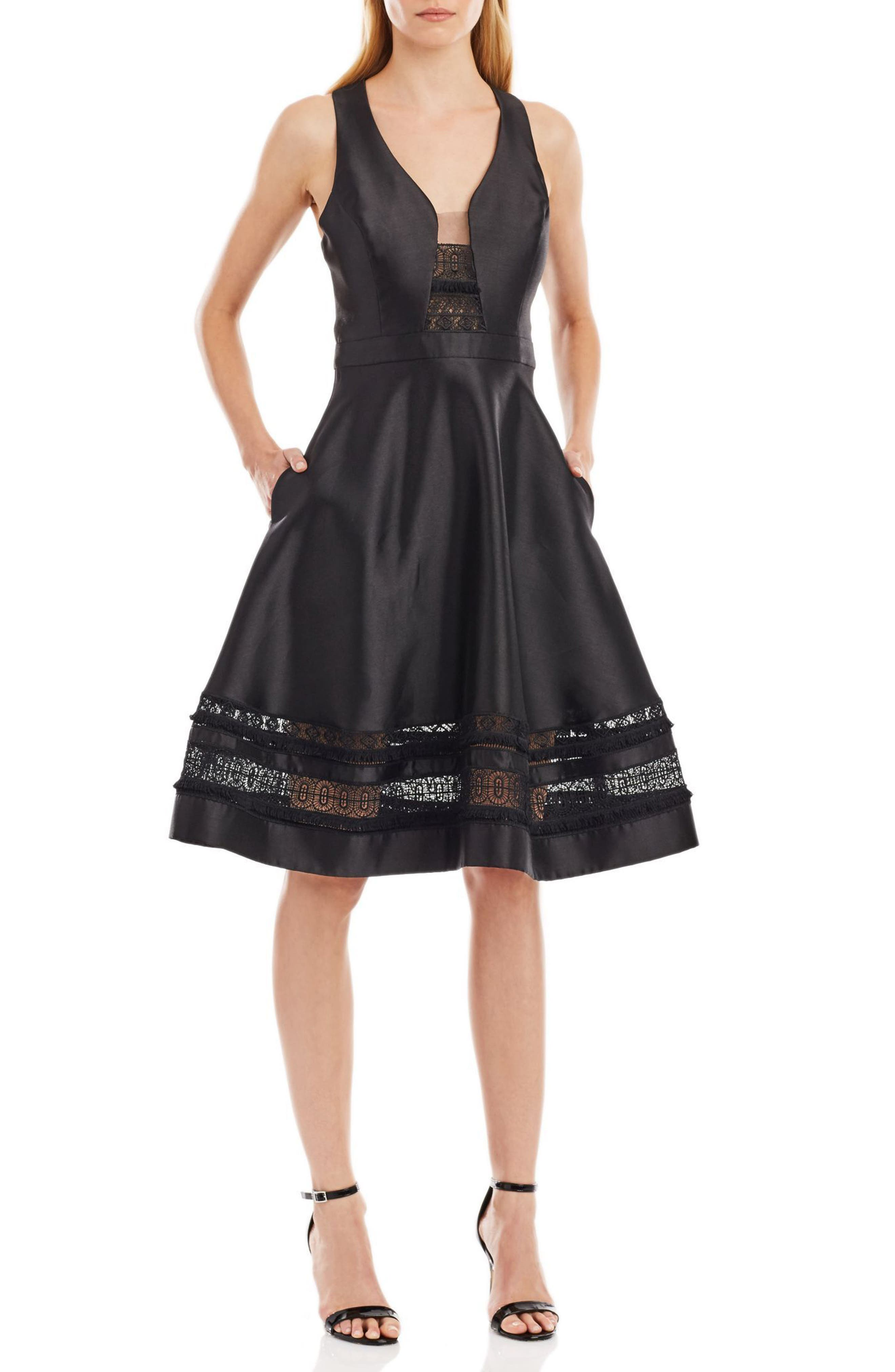 Alternate Image 1 Selected - Nicole Miller New York Mikado Fit & Flare Midi Dress