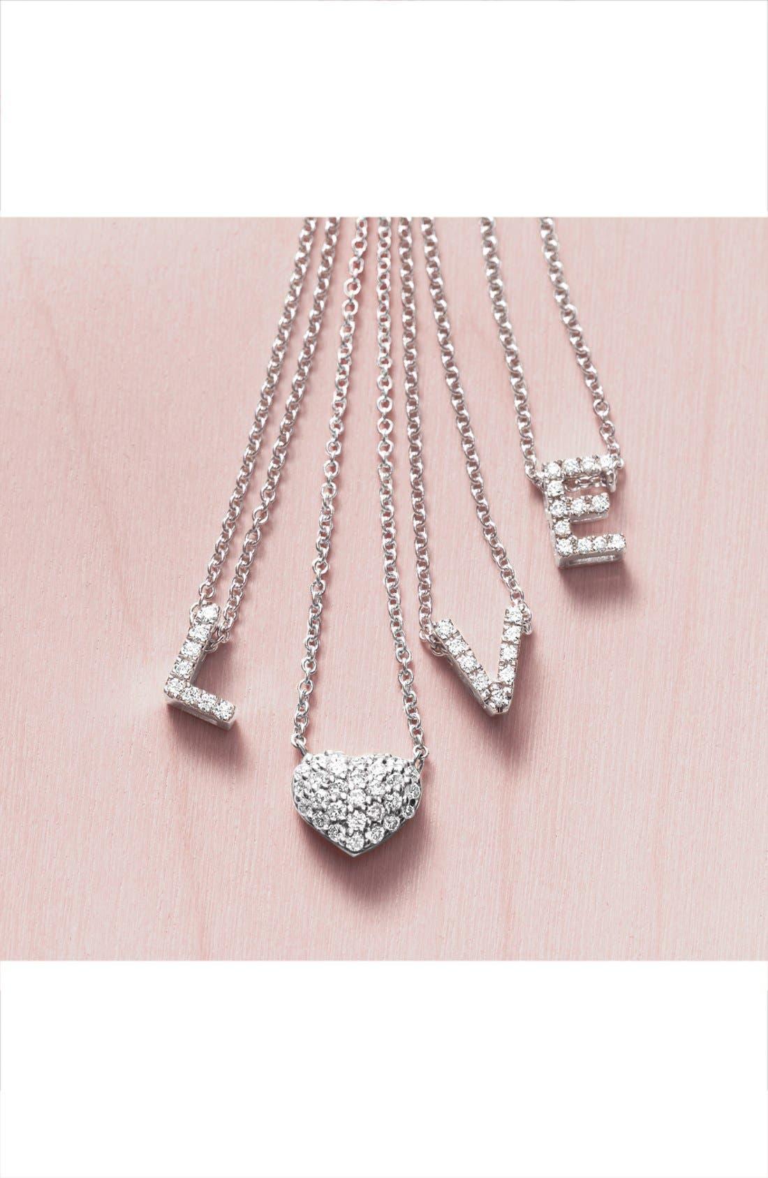 Alternate Image 4  - Bony Levy Diamond Pavé Heart Pendant Necklace (Limited Edition) (Nordstrom Exclusive)