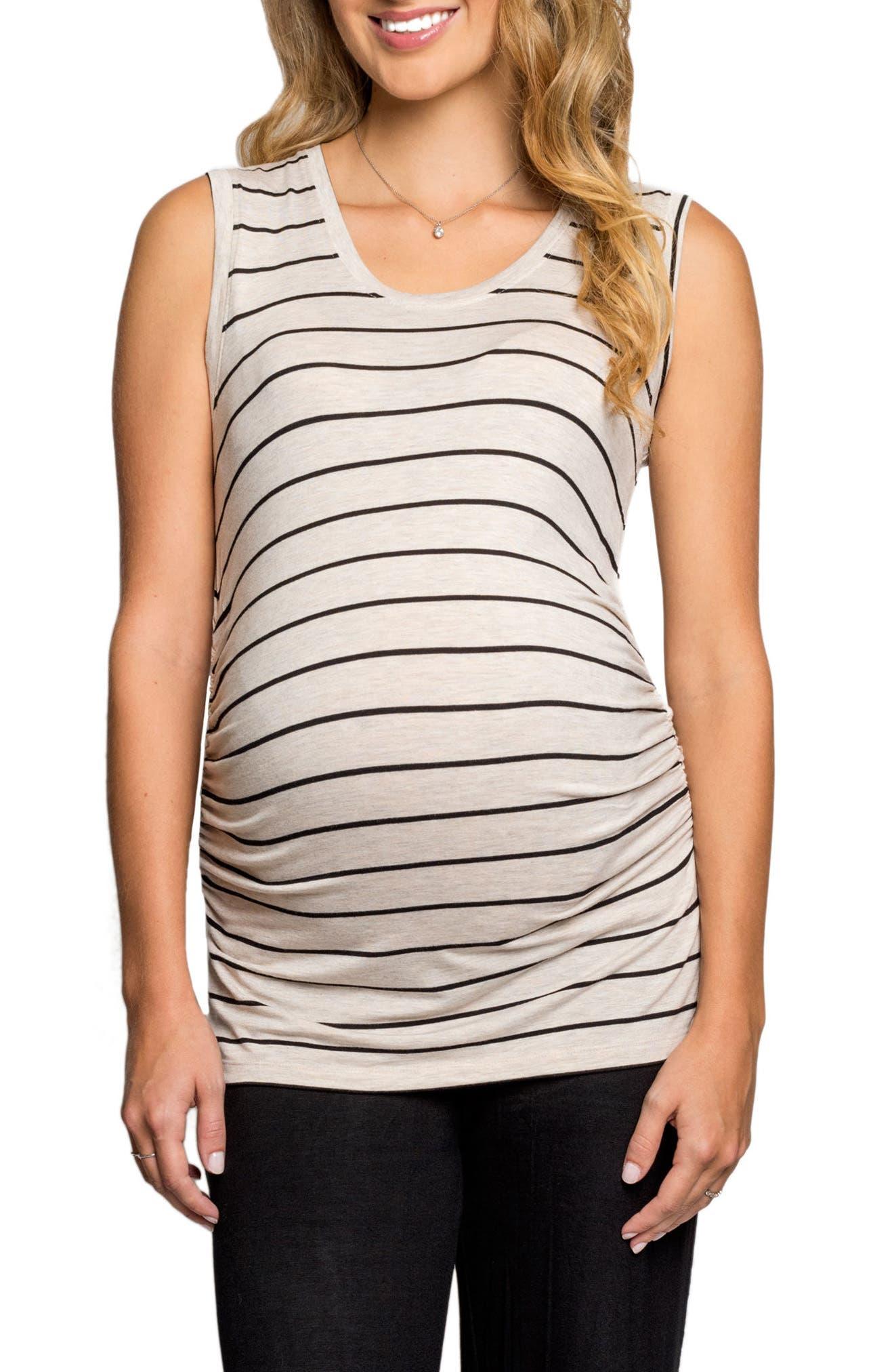 Everly Grey Cecilia Maternity/Nursing Tank & Pants Set