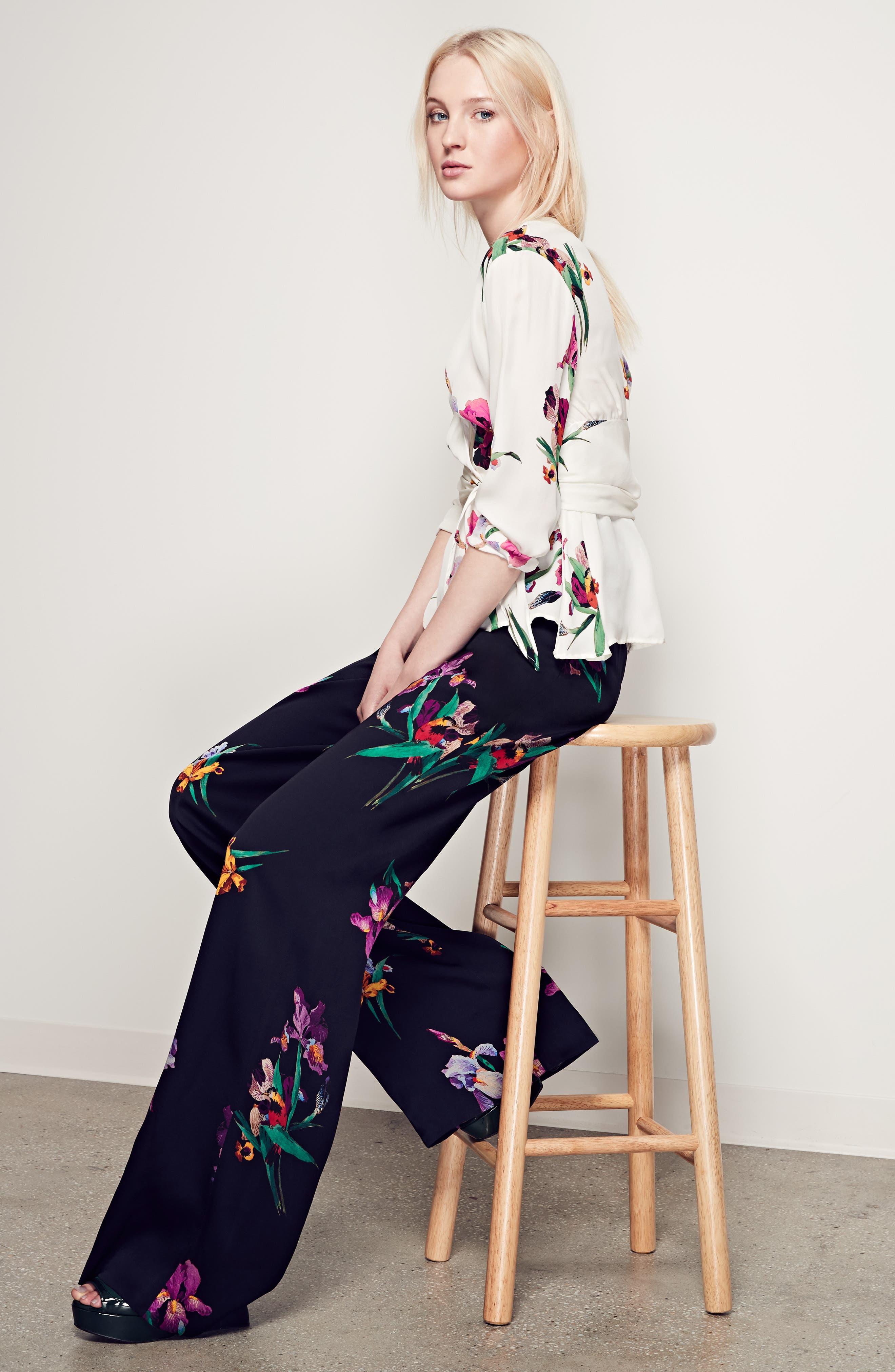 Alternate Image 8  - Etro Floral & Bird Print Silk Wrap Blouse