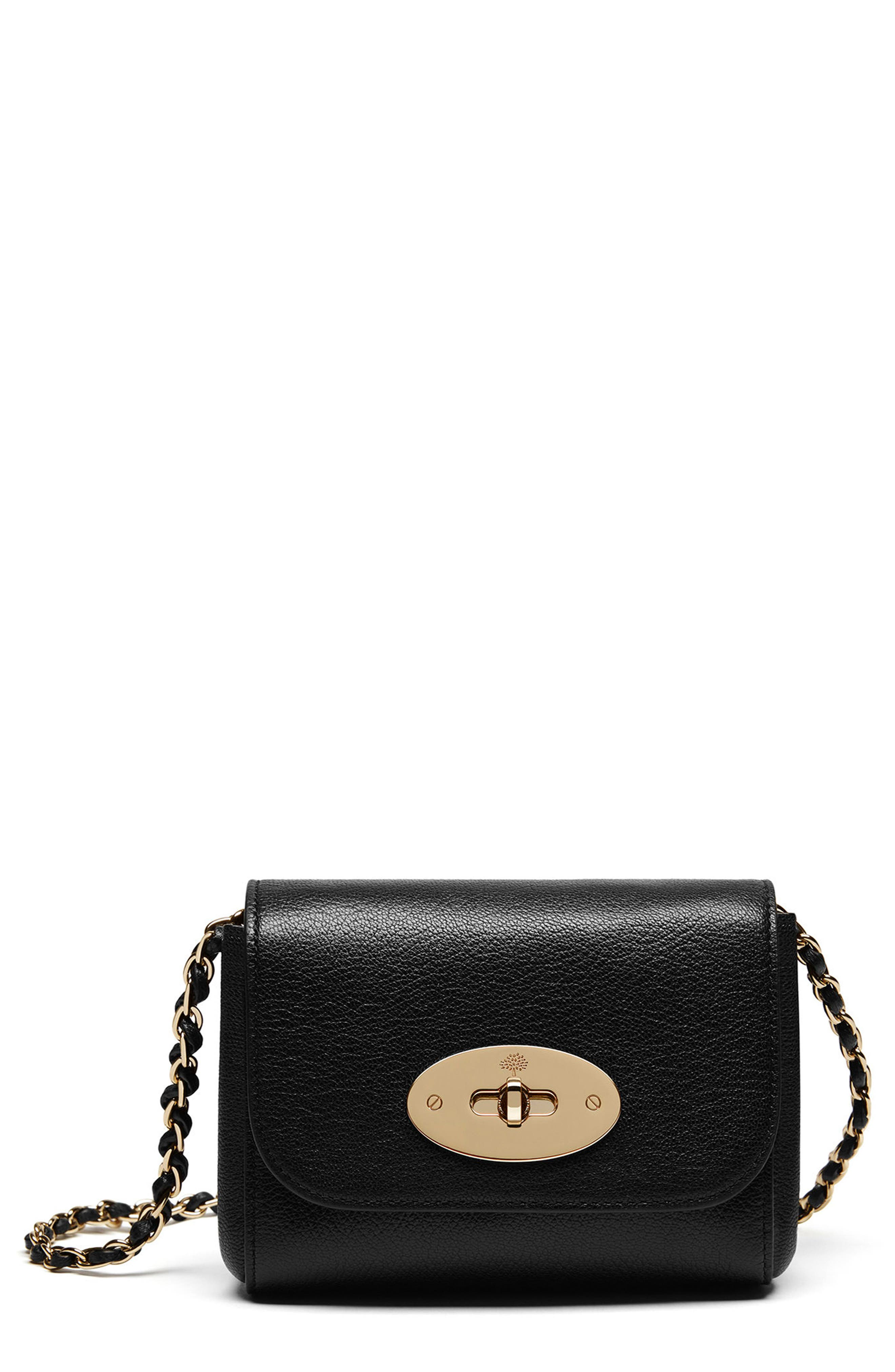 MULBERRY Mini Lily Convertible Glossy Leather Crossbody Clutch