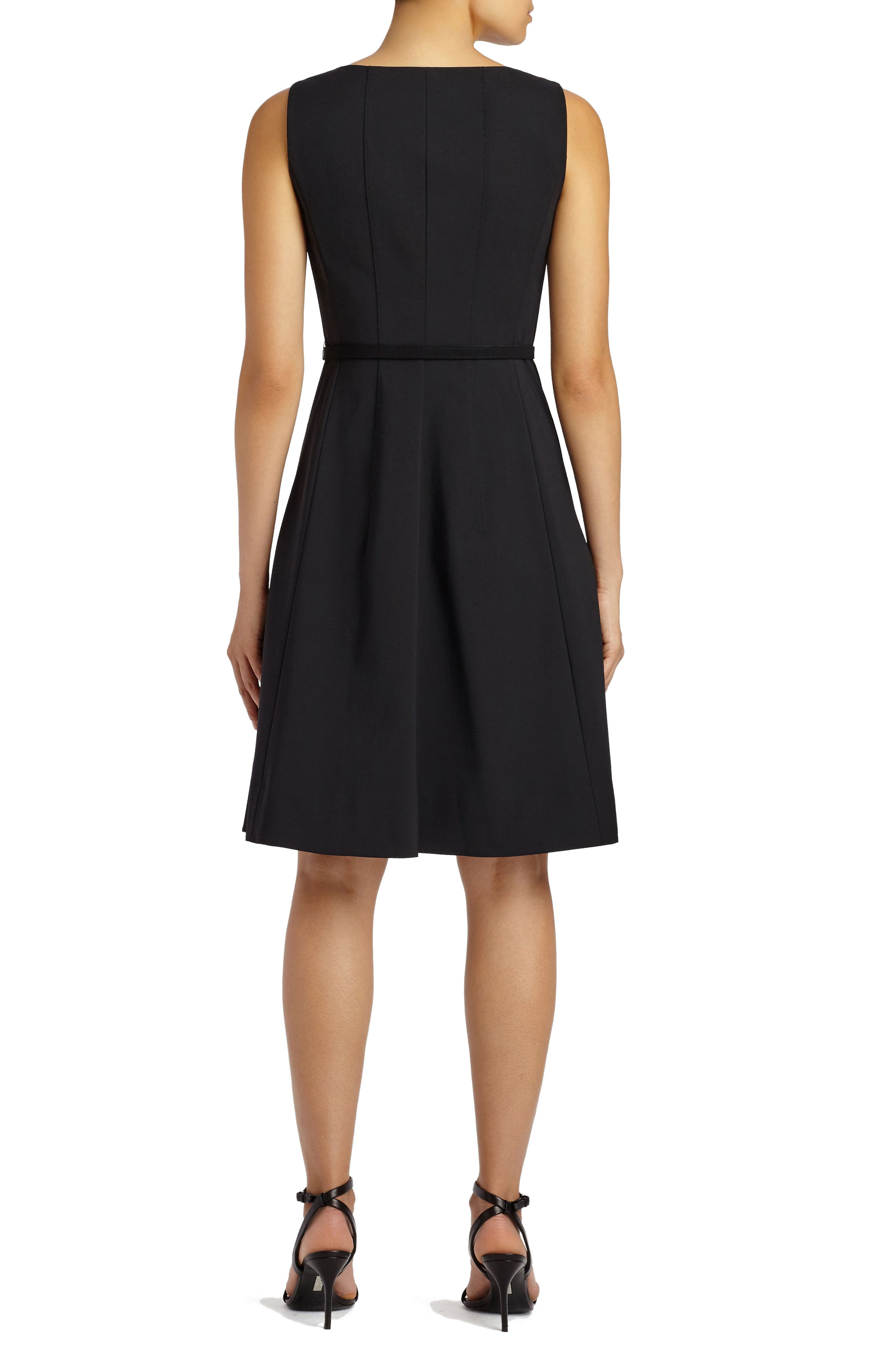 Alternate Image 2  - Lafayette 148 New York Coralie Belted Fundamental Bi-Stretch Dress