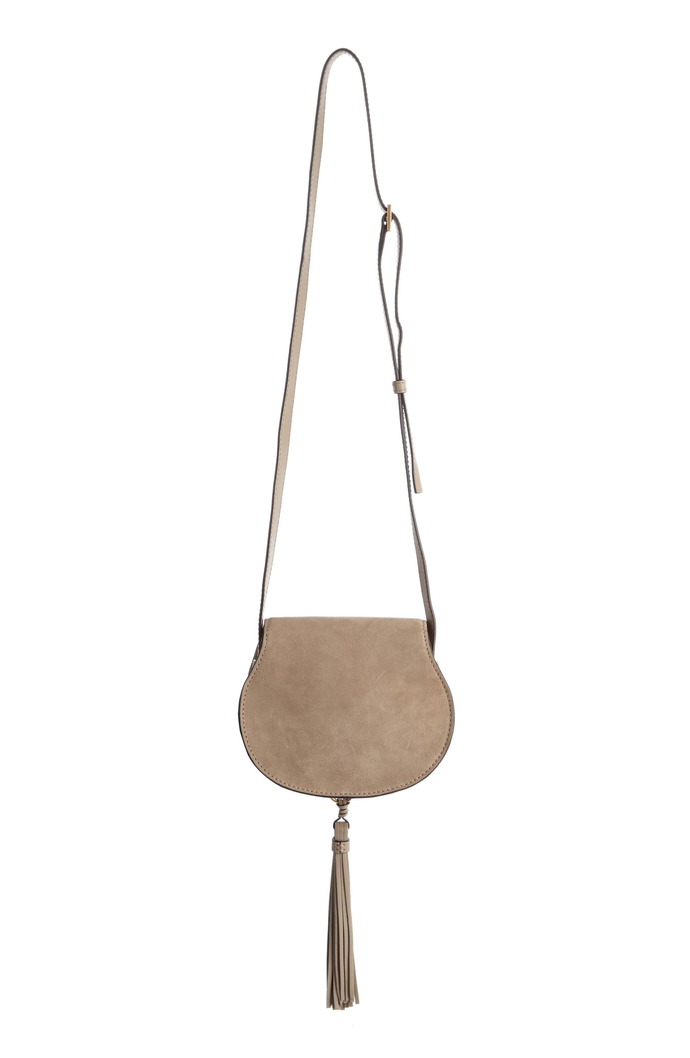 Alternate Image 3  - Chloé 'Mini Marcie' Suede Saddle Bag