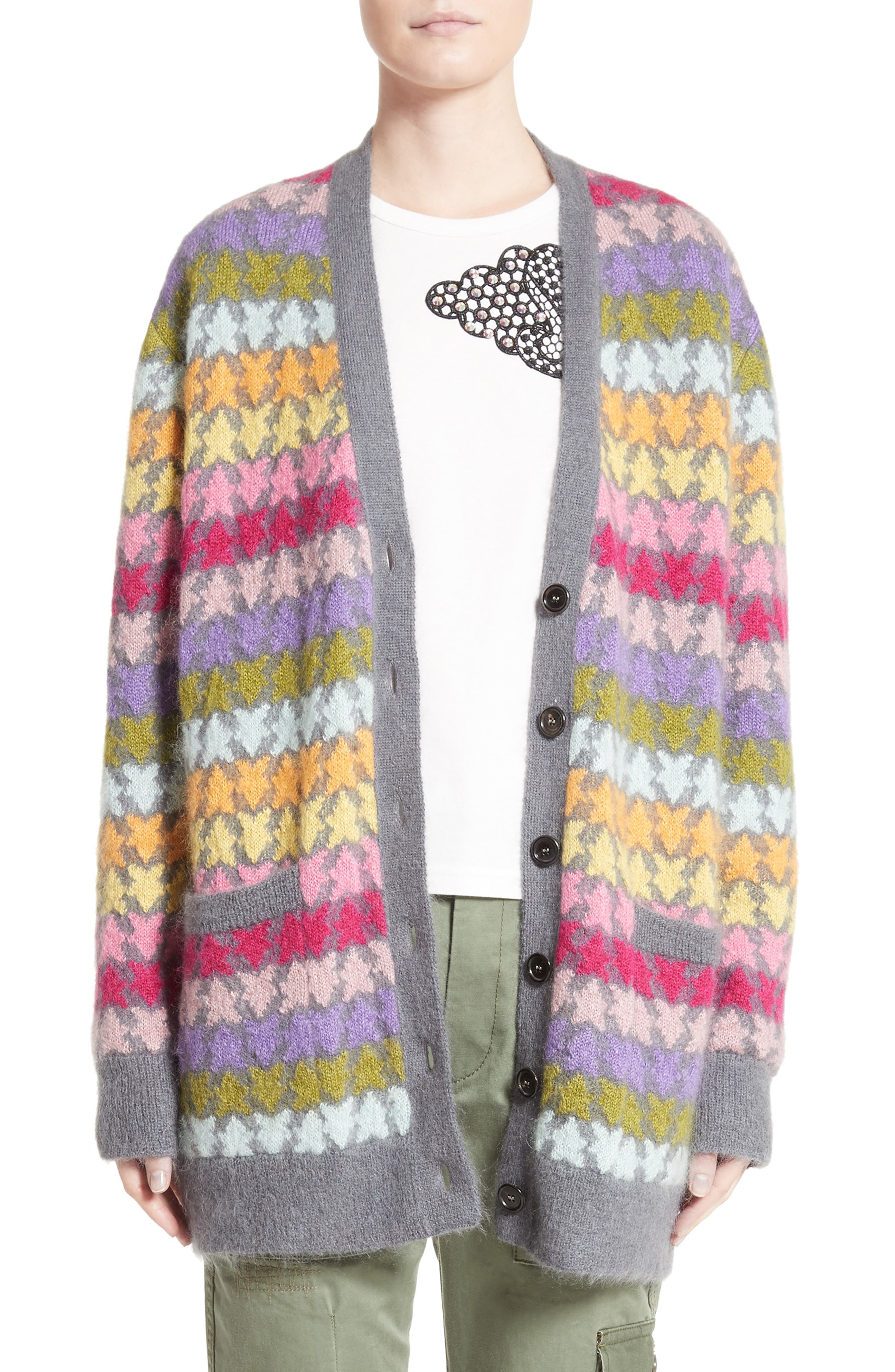 Main Image - MARC JACOBS Star Knit Mohair Blend Cardigan