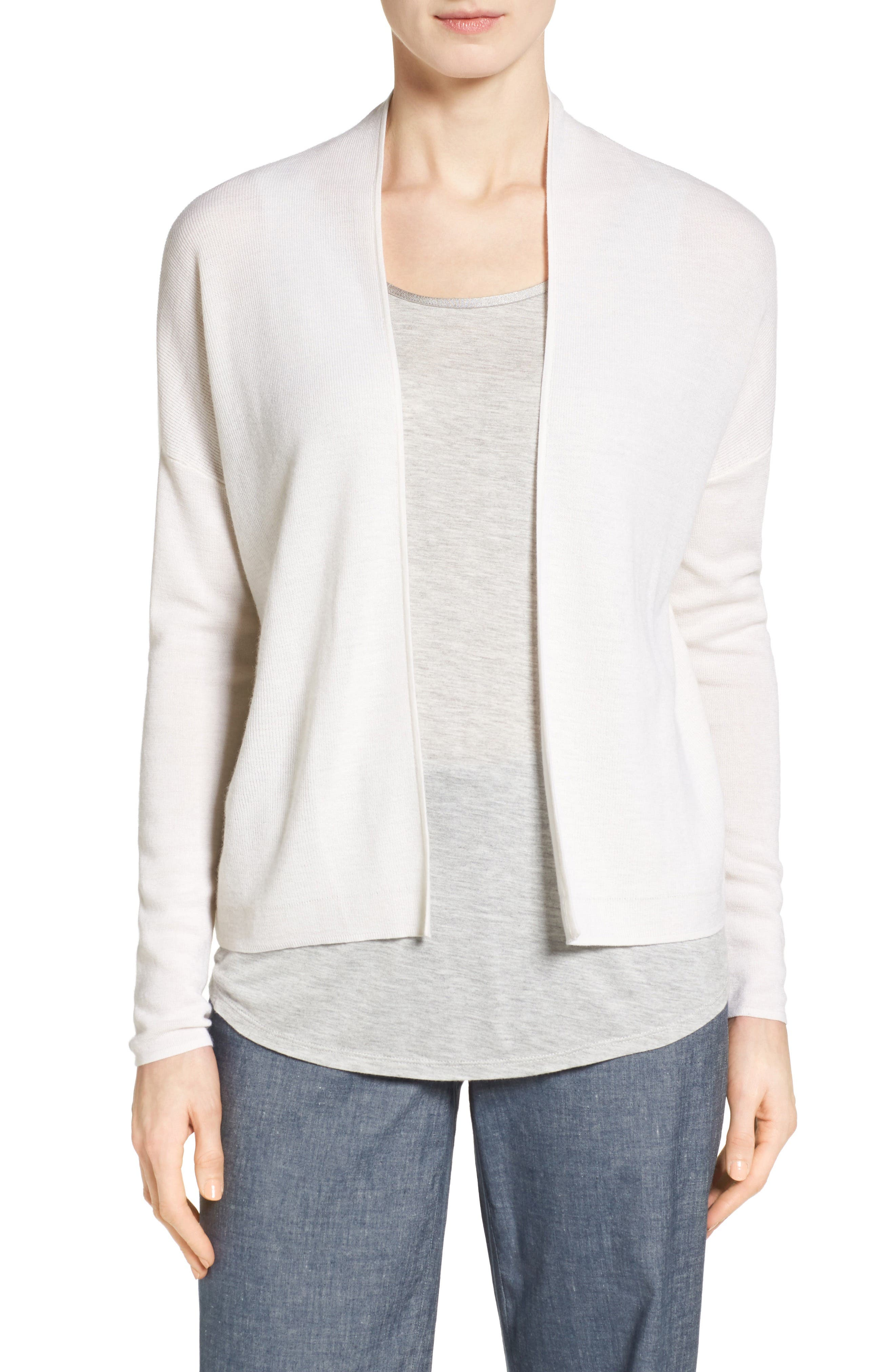 Nordstrom Collection Pointelle Detail Cashmere Cardigan