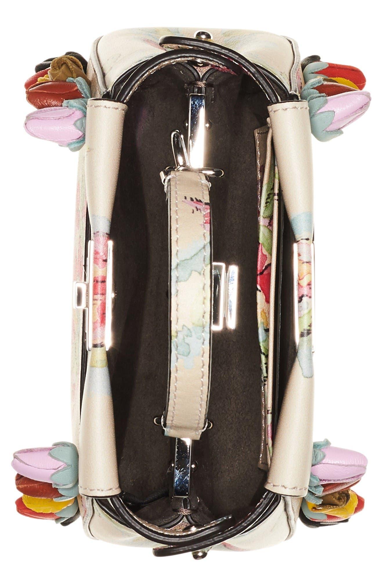 Alternate Image 3  - Fendi Micro Peekaboo Floral Appliqué Leather Satchel