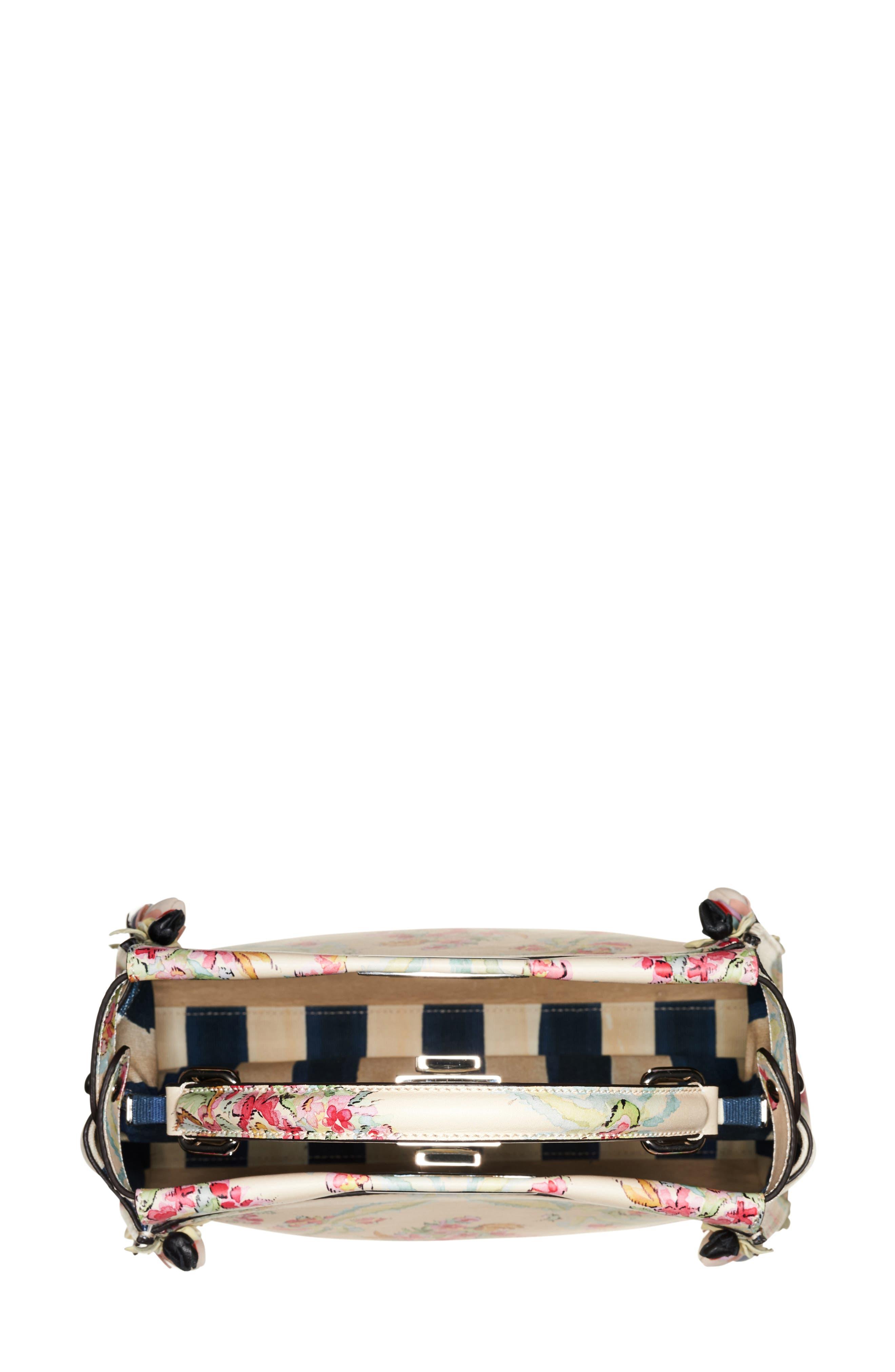 Alternate Image 3  - Fendi Medium Peekaboo Floral Appliqué Leather Satchel