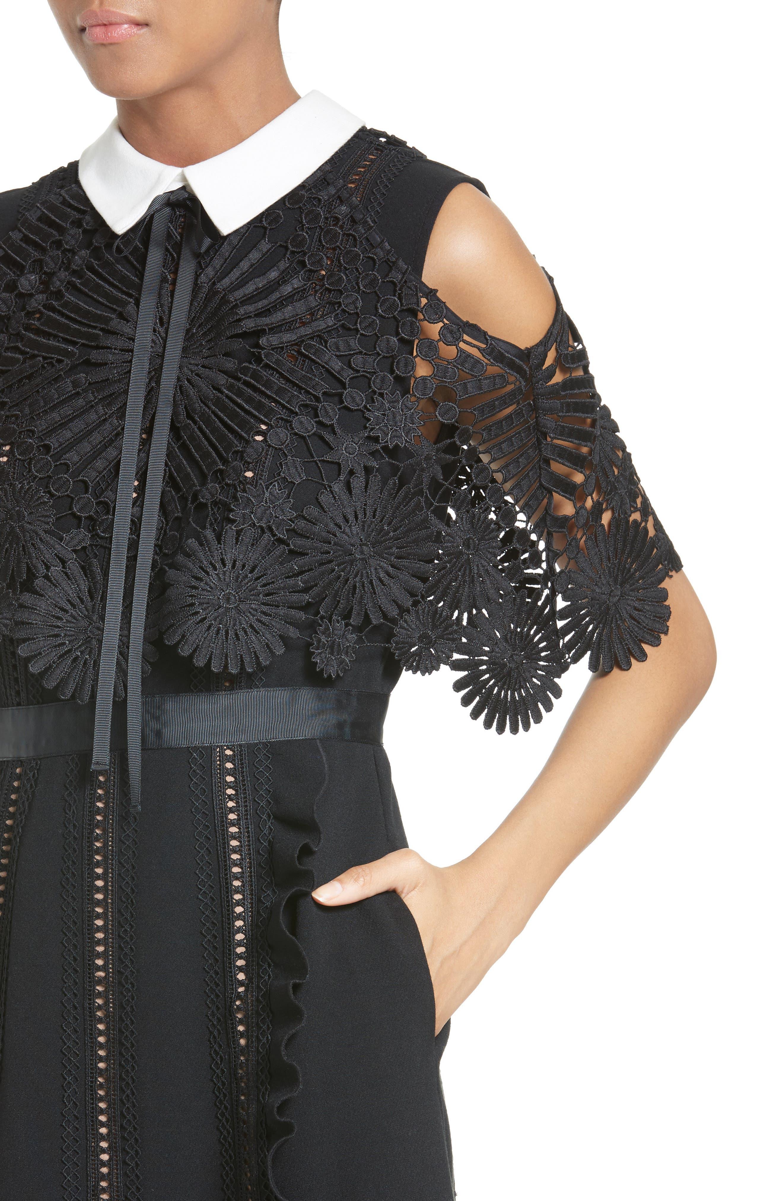 Alternate Image 4  - Self-Portrait Hinkley Cold Shoulder Midi Dress
