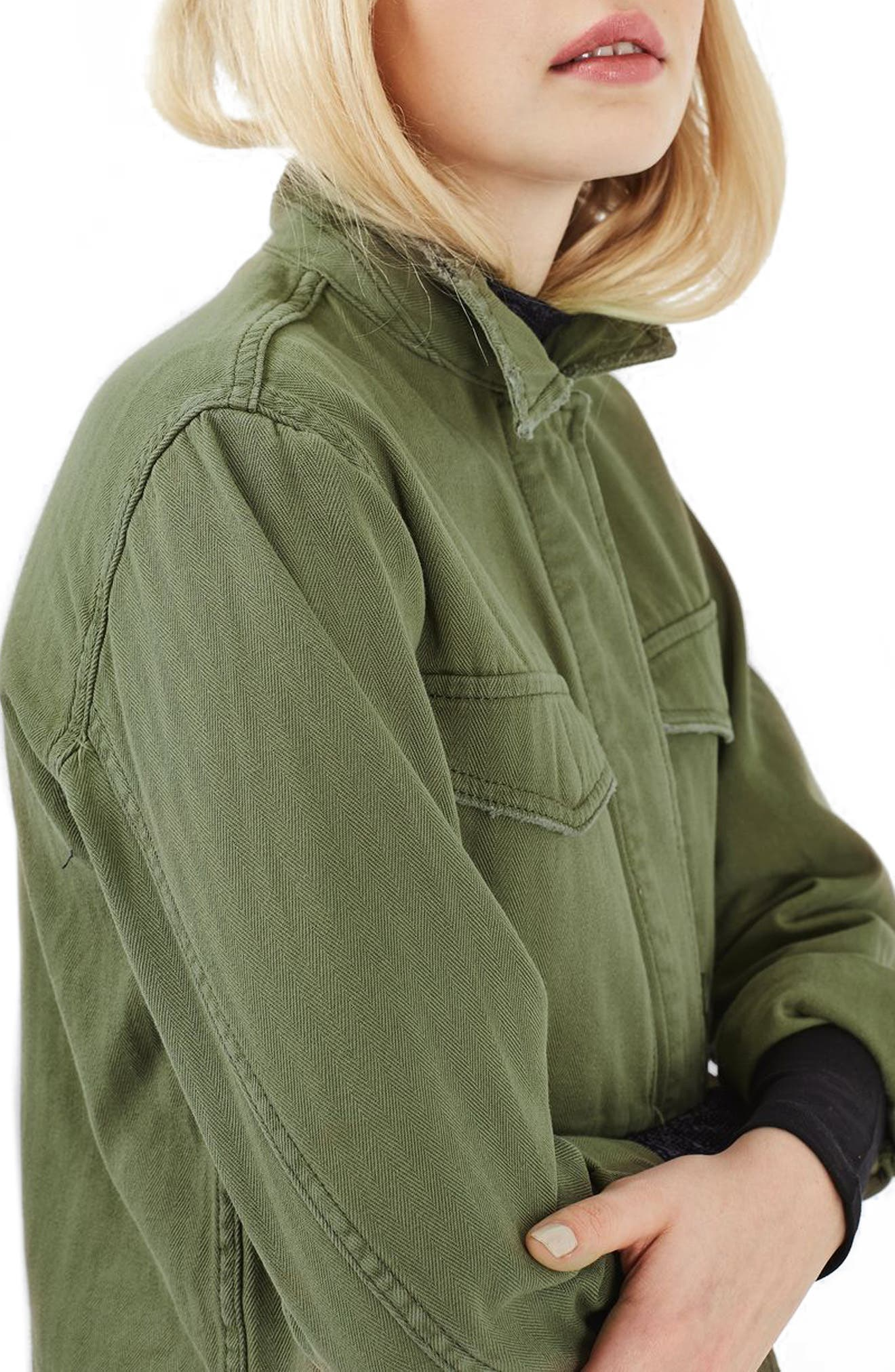 Alternate Image 6  - Topshop Ethan Shirt Jacket