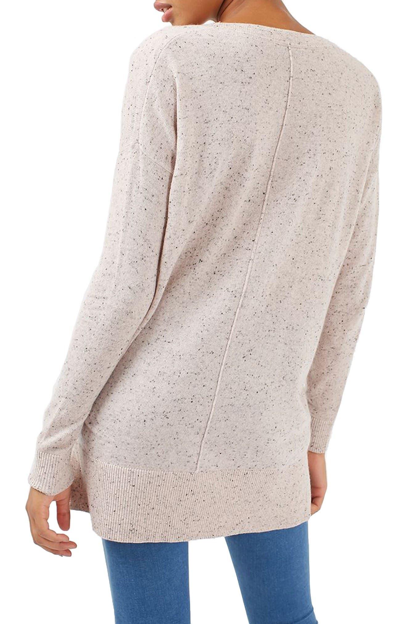 Alternate Image 3  - Topshop Lace V-Neck Sweater Tunic