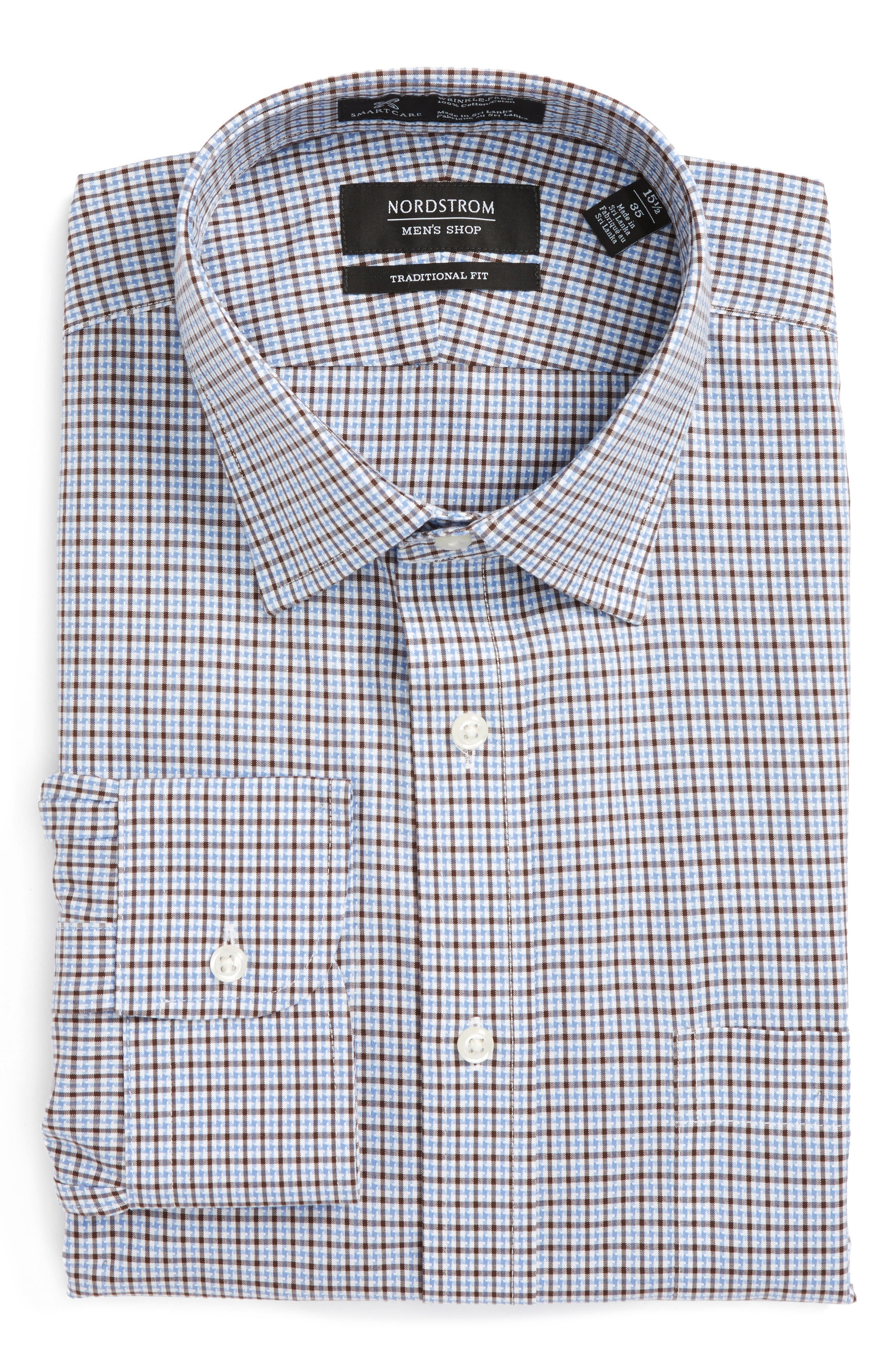 Nordstrom Men's Shop Smartcare™ Traditional Fit Check Dress Shirt