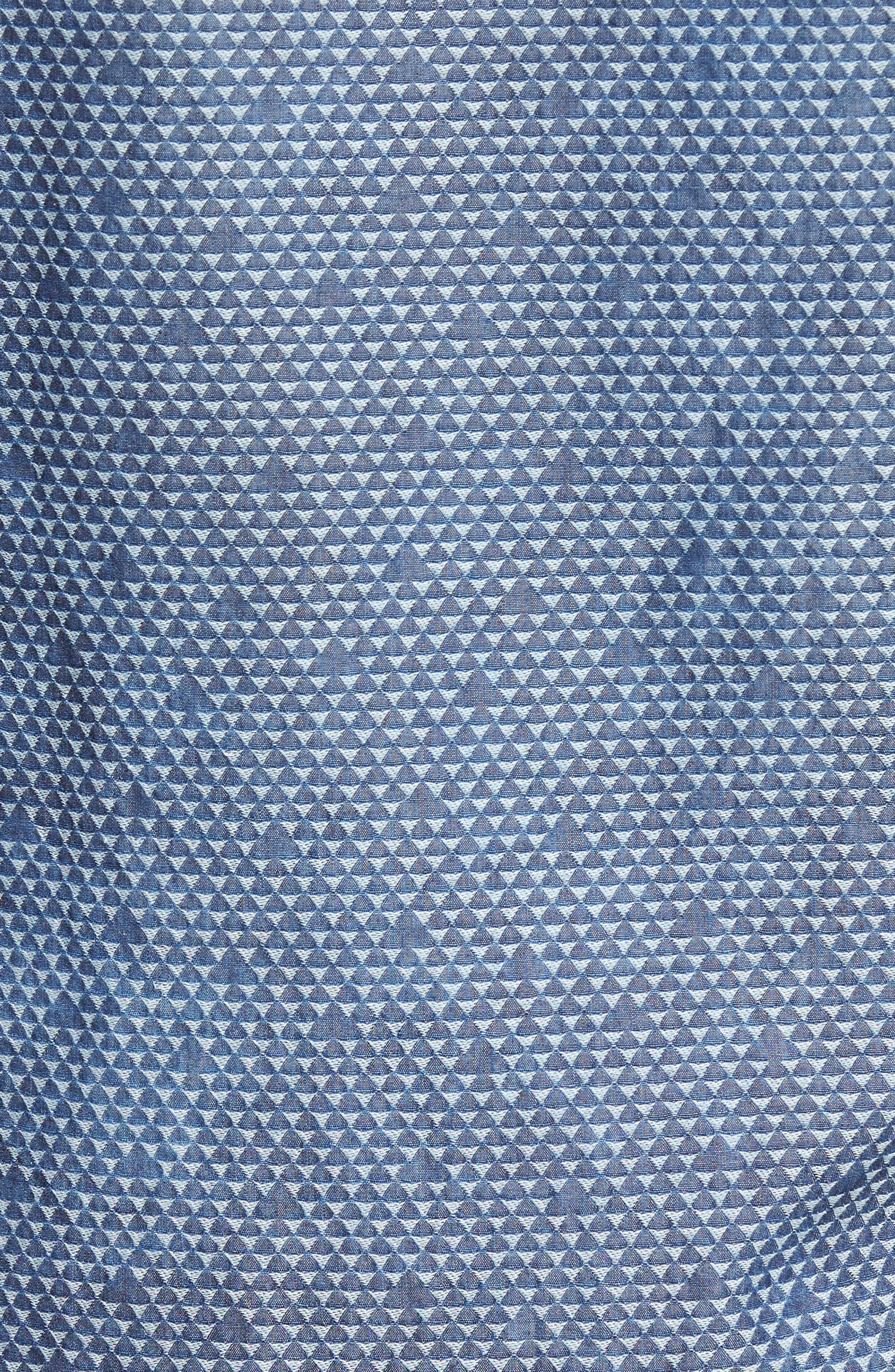 Alternate Image 5  - Stone Rose Triangle Jacquard Sport Shirt