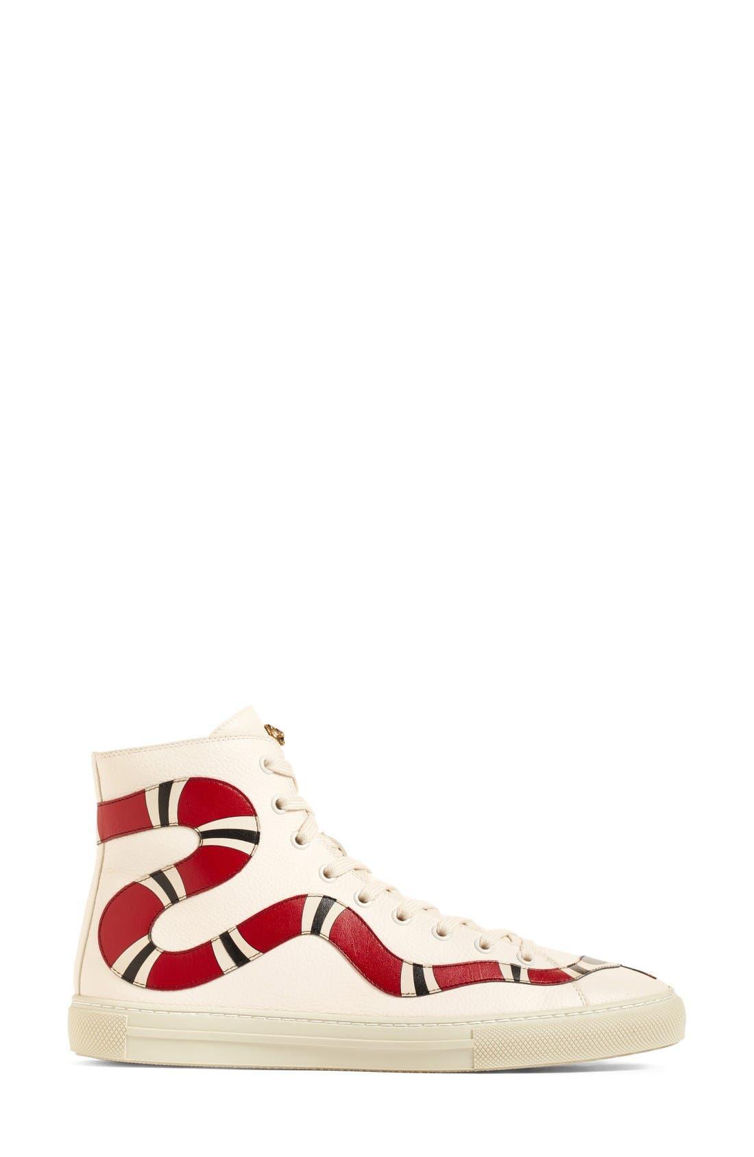 Alternate Image 3  - Gucci Major Snake High Top Sneaker (Women)