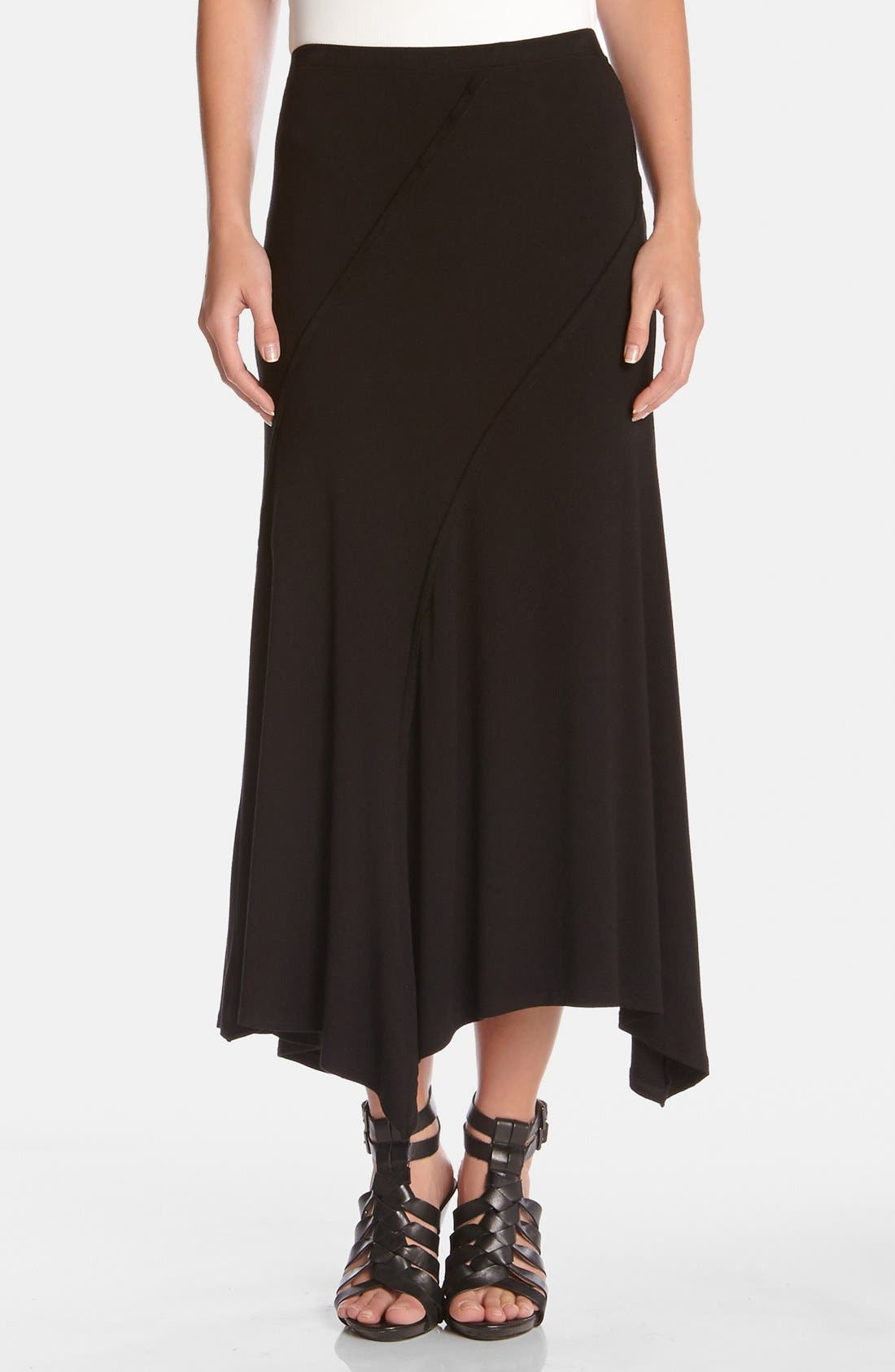 Alternate Image 1 Selected - Karen Kane Spiral Seam Stretch Knit Maxi Skirt