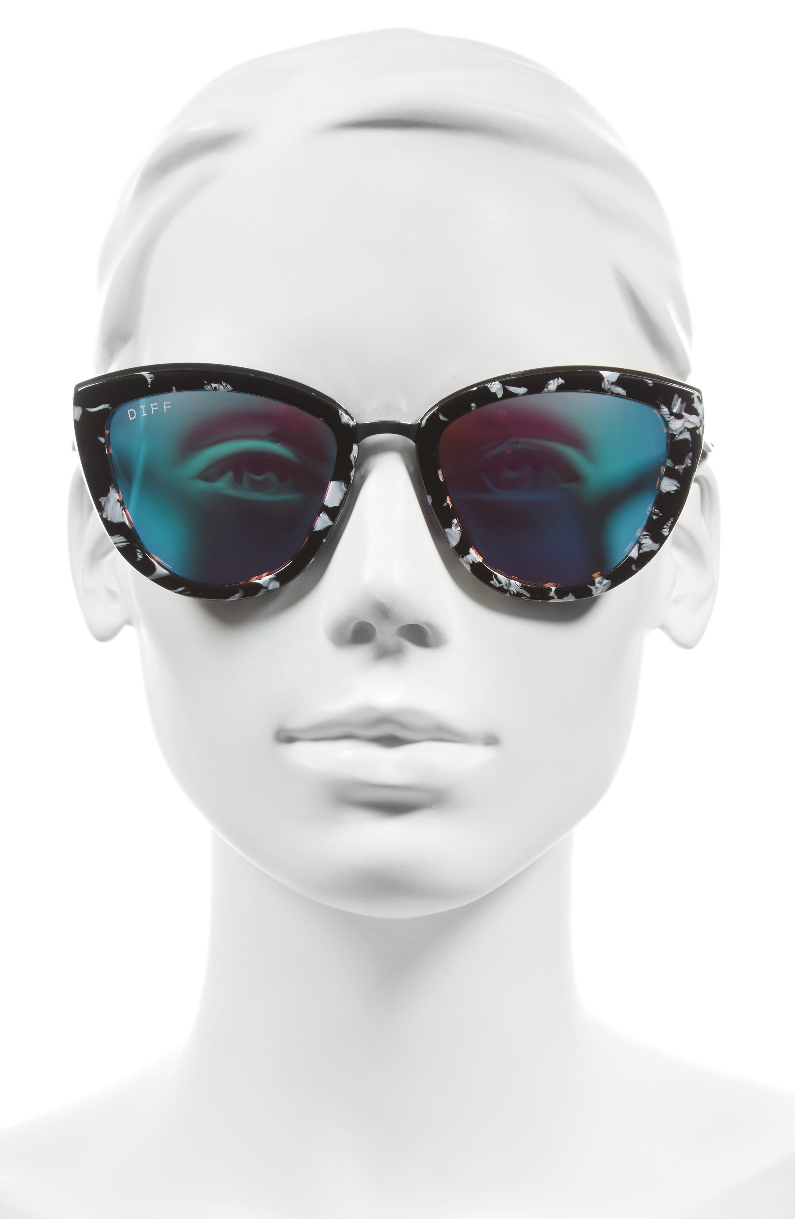 Alternate Image 2  - DIFF Rose 56mm Cat Eye Sunglasses