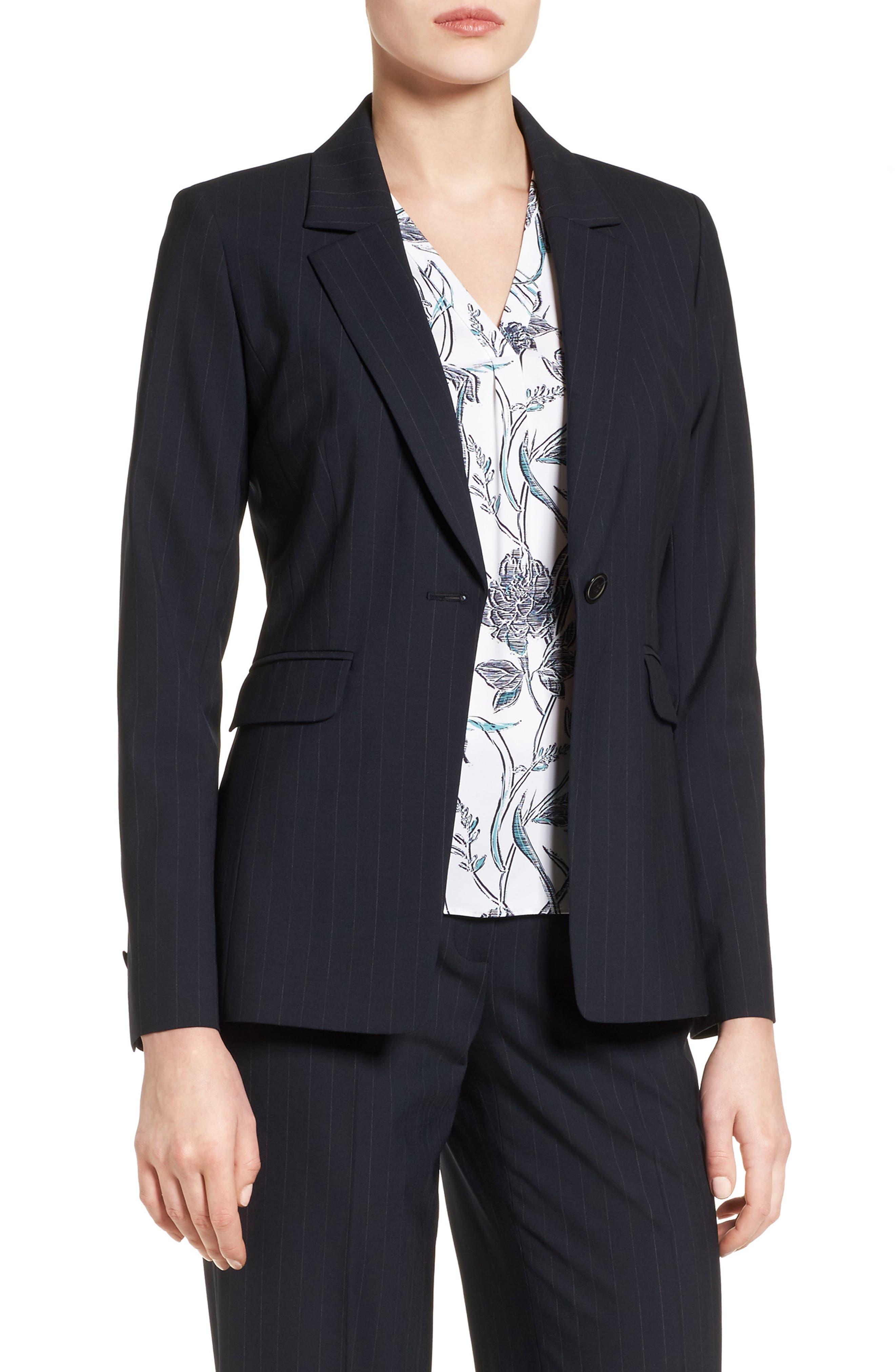 CLASSIQUES ENTIER® Classiques Entier Pinstripe Suiting Jacket