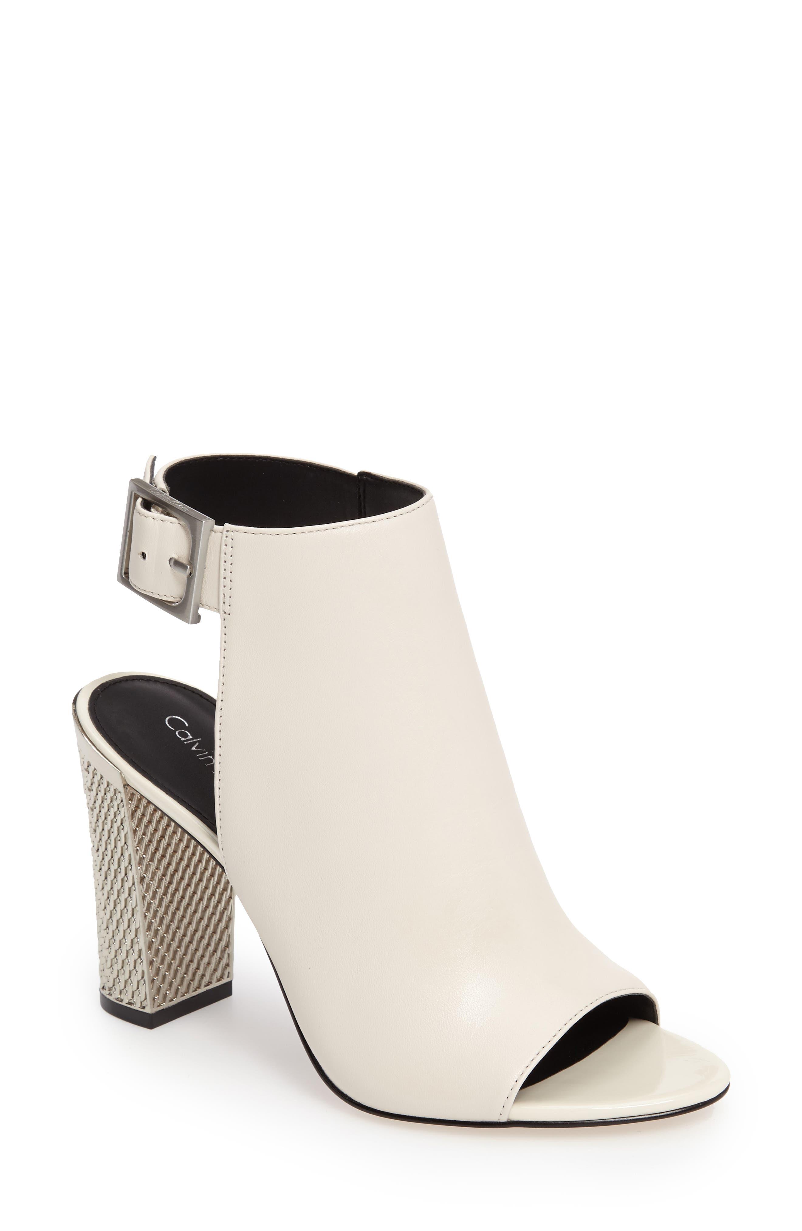 Alternate Image 1 Selected - Calvin Klein Norah Metallic Heel Sandal (Women)