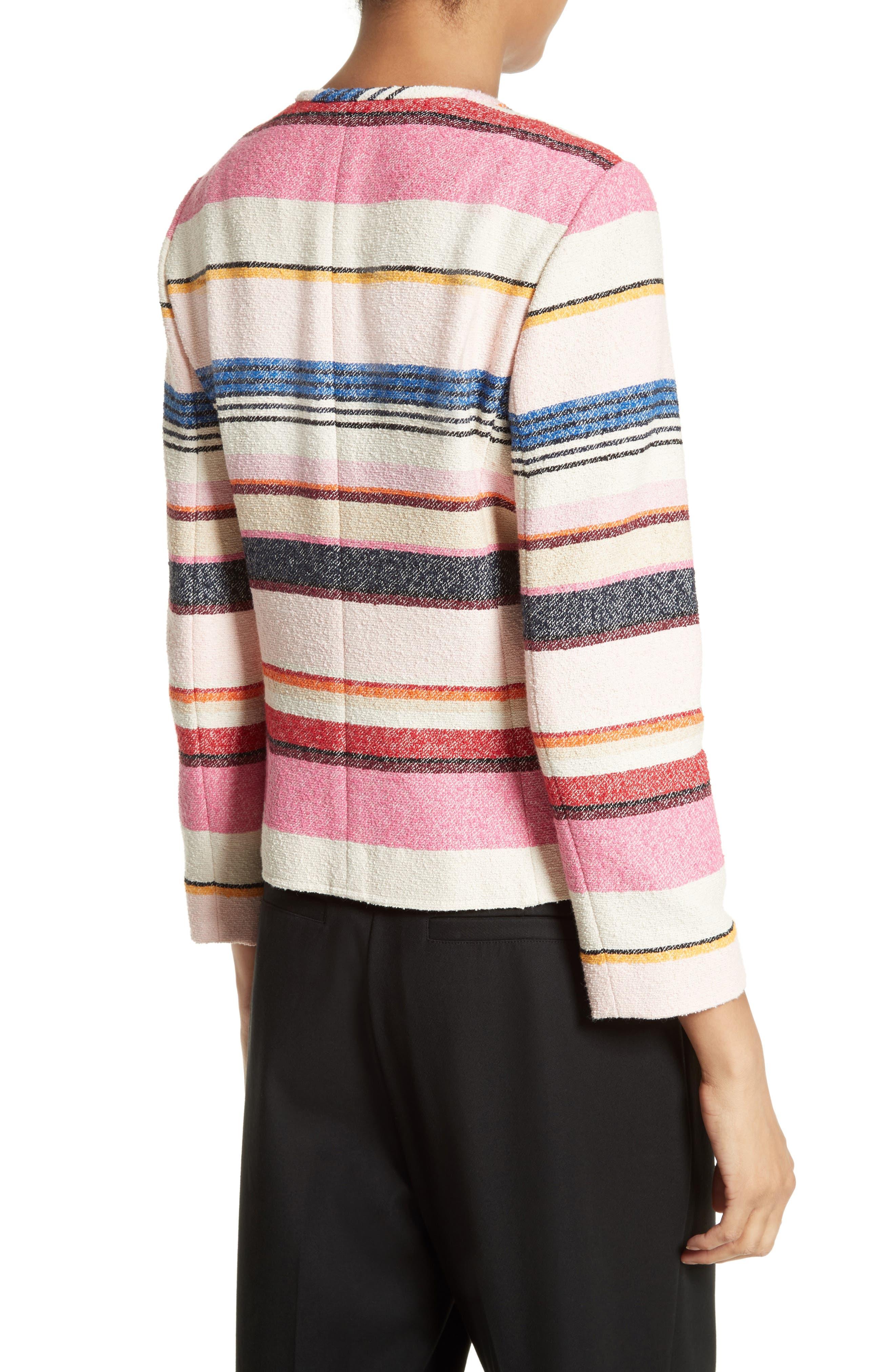 Alternate Image 2  - kate spade new york berber stripe collarless jacket