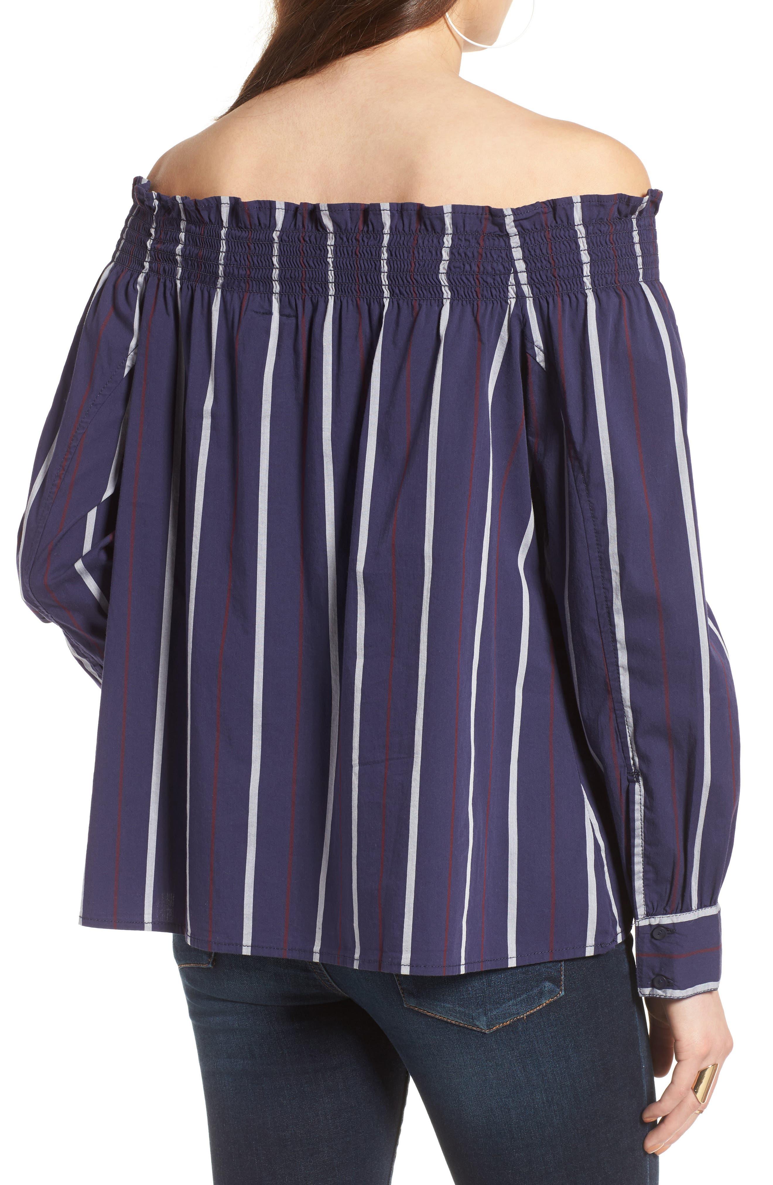 Alternate Image 2  - BP. Stripe Off the Shoulder Top