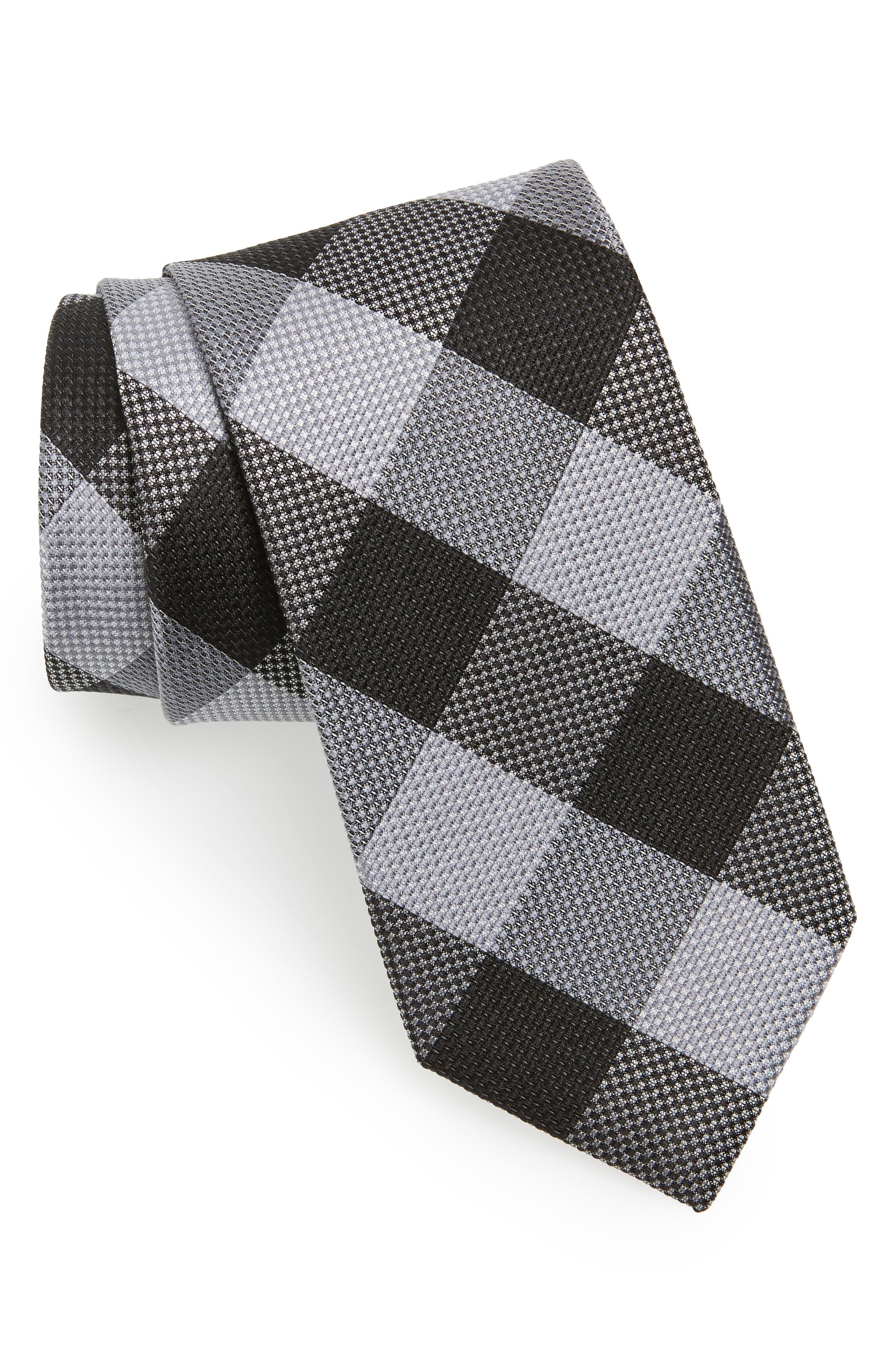 Main Image - Calibrate Check Silk Tie