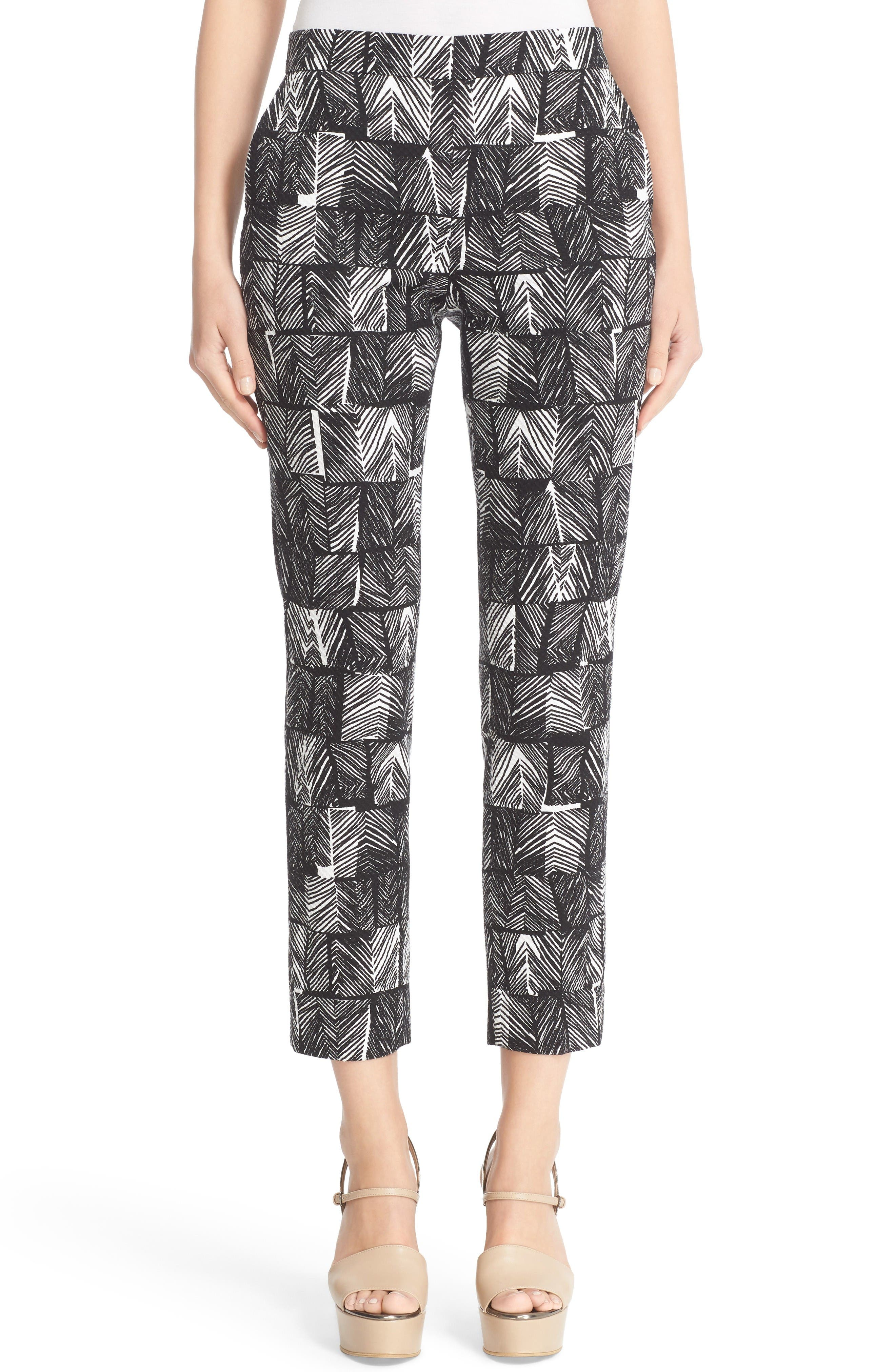 Alternate Image 1 Selected - Max Mara Paggio Graphic Print Crop Pants