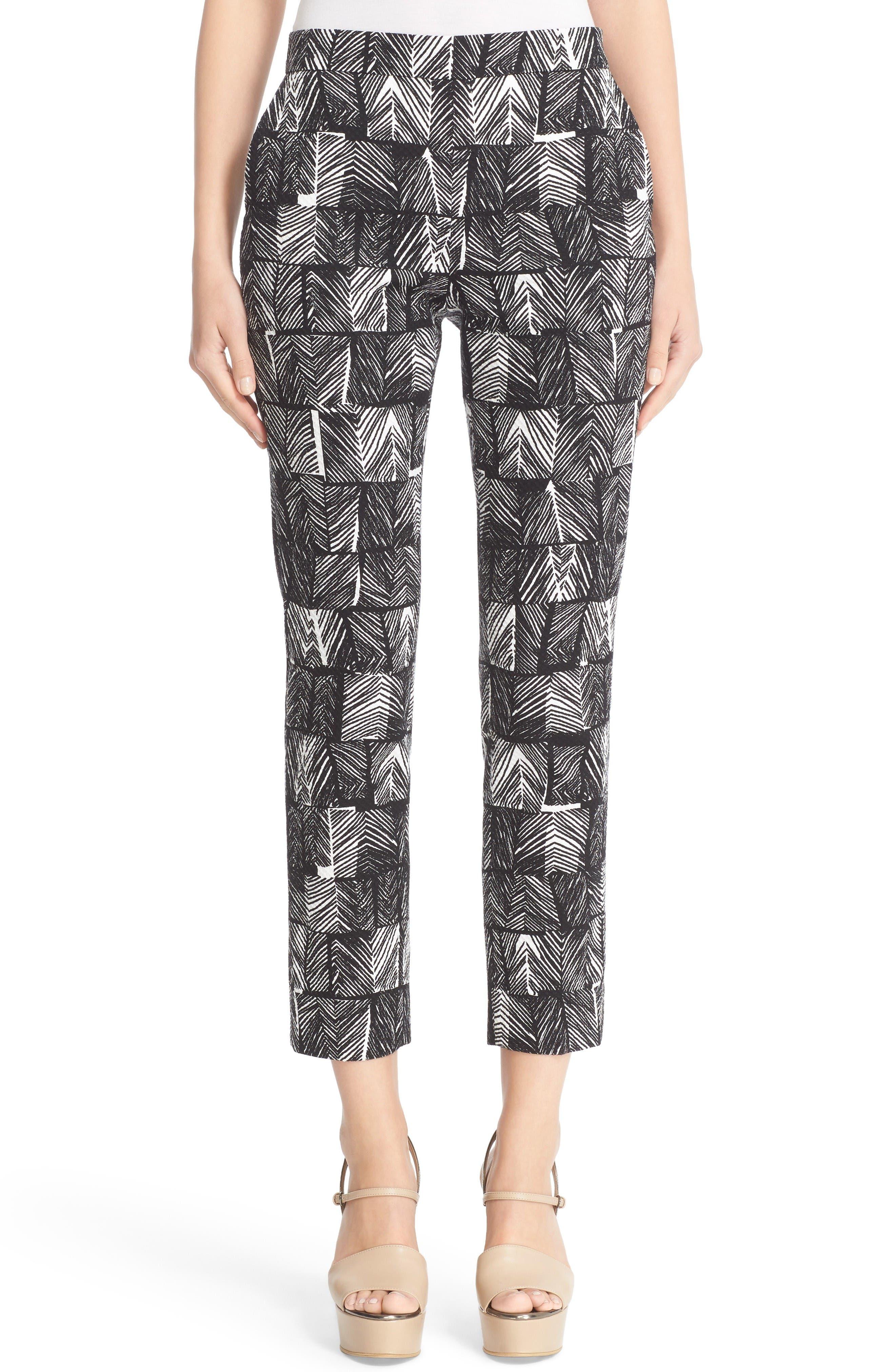 MAX MARA Paggio Graphic Print Crop Pants