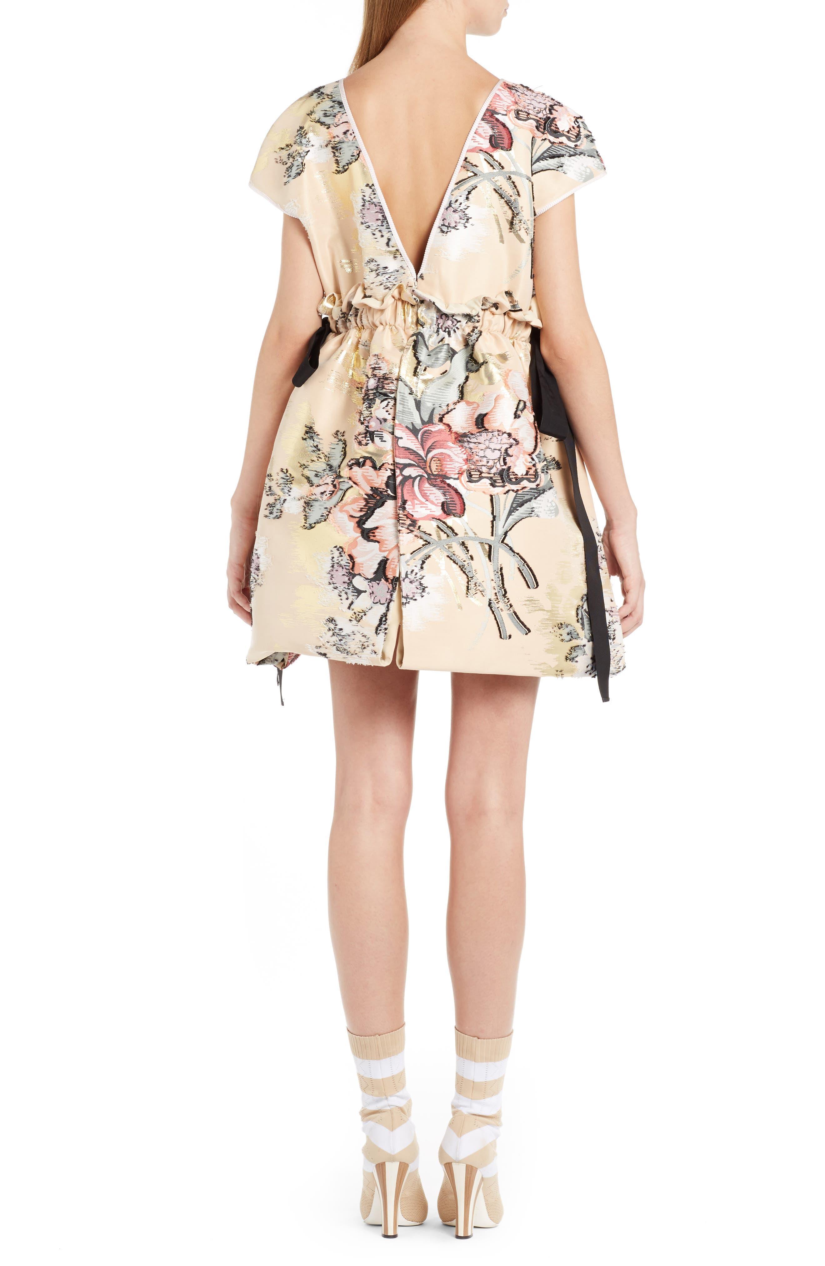 Alternate Image 2  - Fendi Fil Coupé Floral Brocade Dress