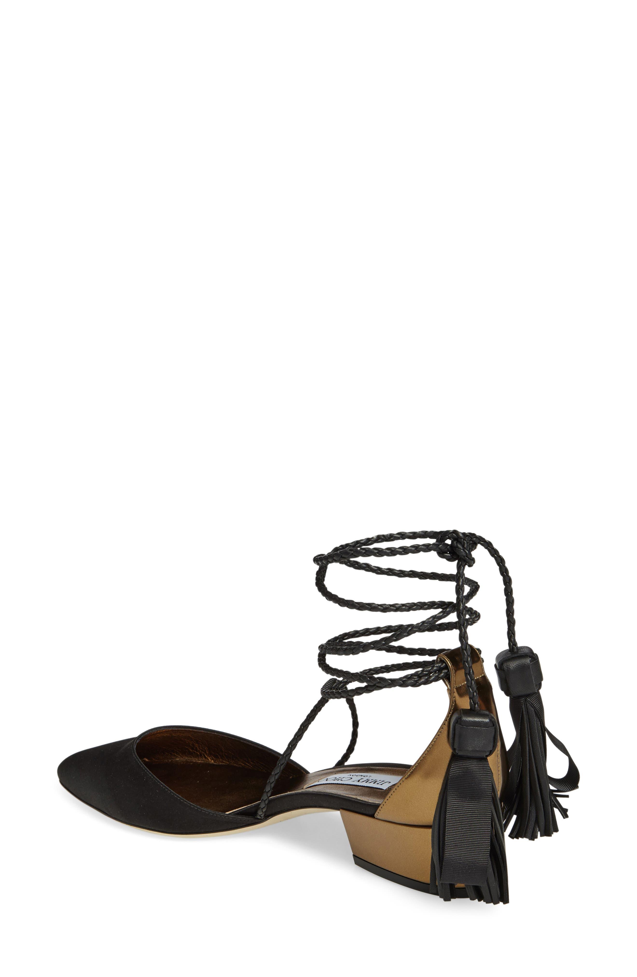 Alternate Image 2  - Jimmy Choo Duchess Ankle Wrap Flat (Women)