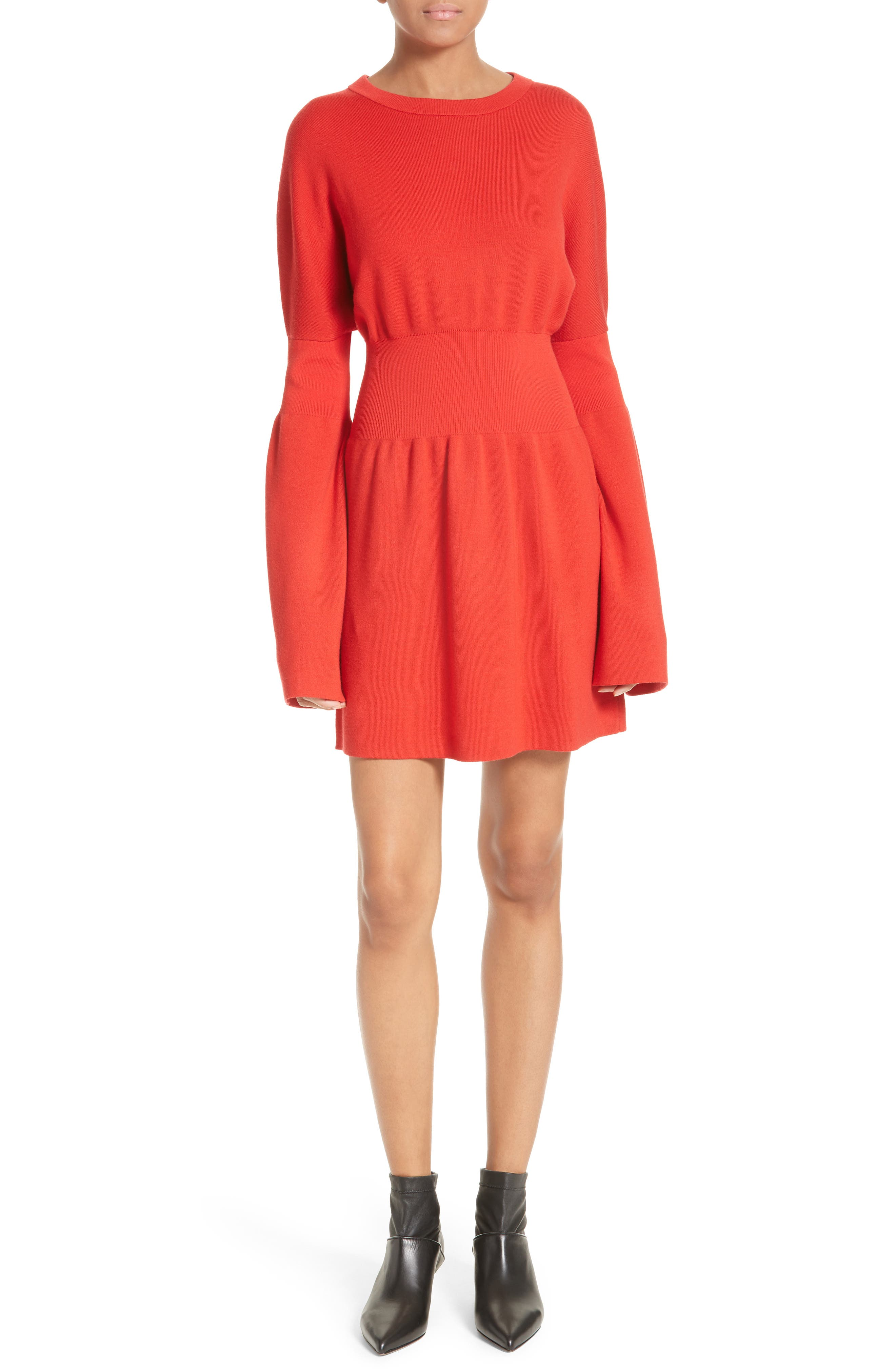 Tibi Merino Wool Knit Minidress