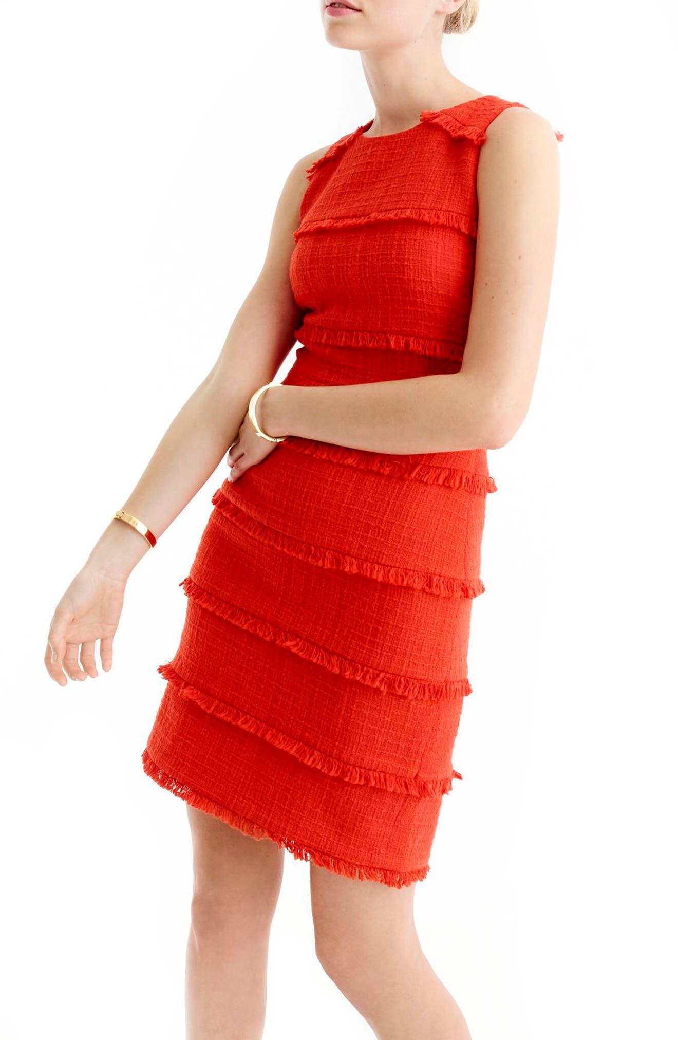Alternate Image 1 Selected - J.Crew Tweed Sheath Dress (Regular & Petite)