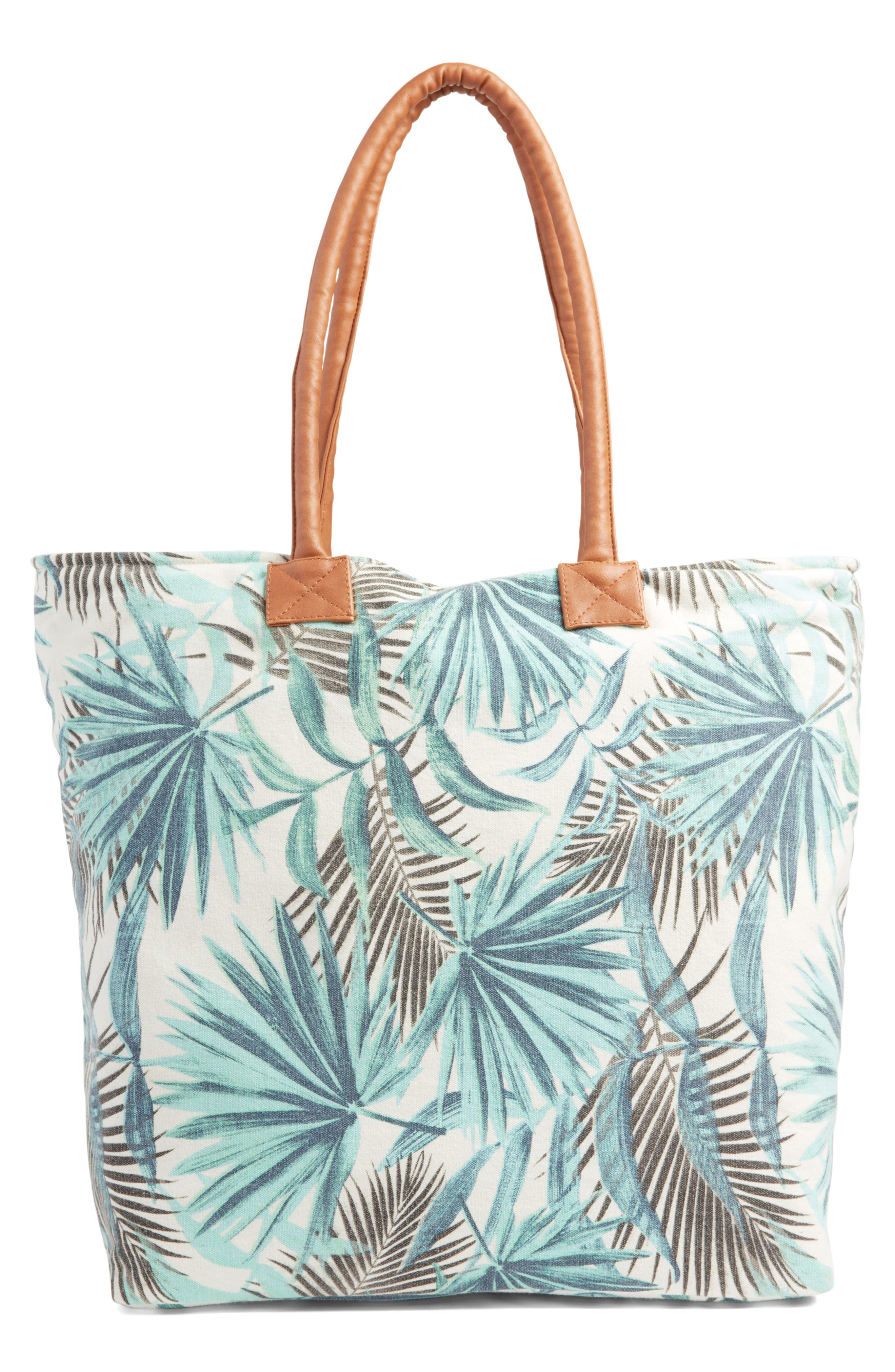 Alternate Image 3  - Rip Curl Palm Print Beach Tote