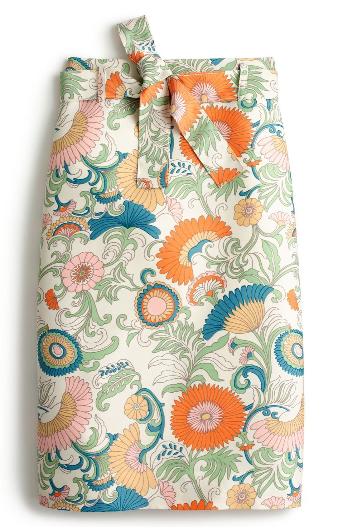 Alternate Image 3  - J.Crew Tie Waist Ornate Floral Skirt (Regular & Petite)