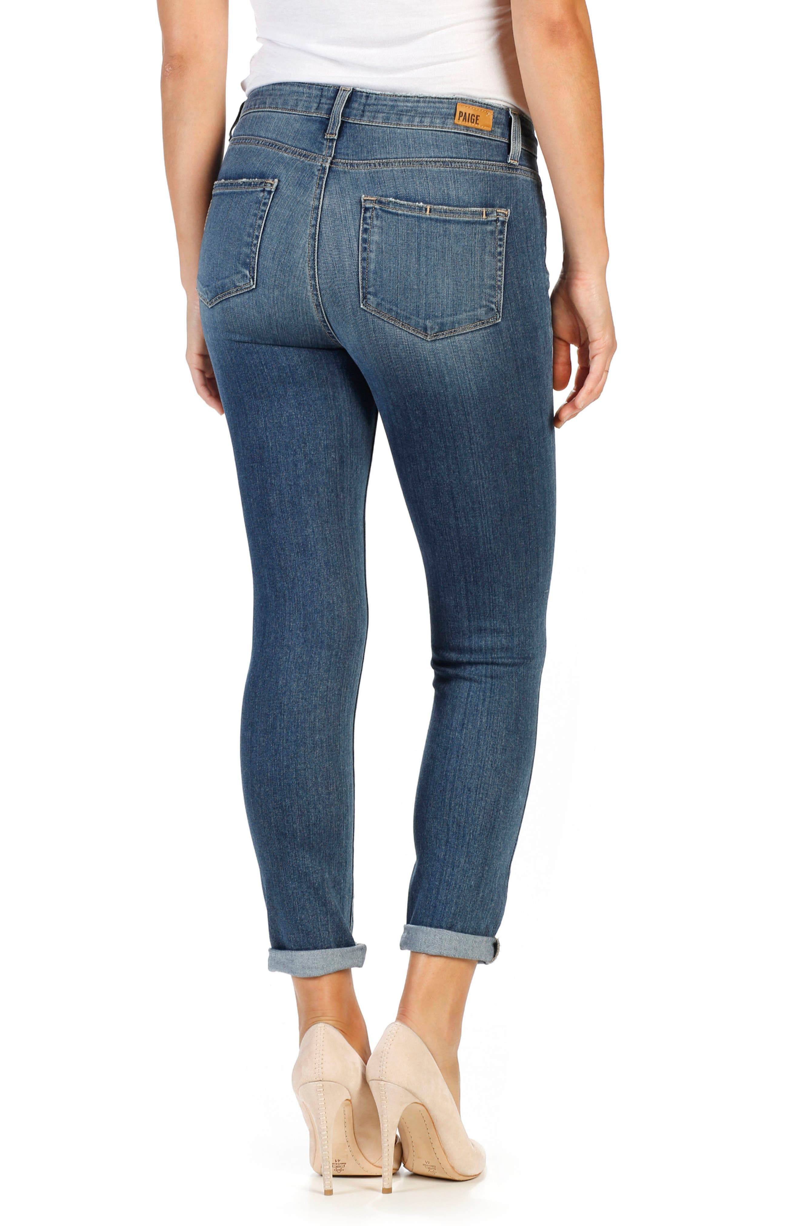 Alternate Image 2  - PAIGE Transcend - Hoxton High Waist Crop Skinny Jeans (Kalina)