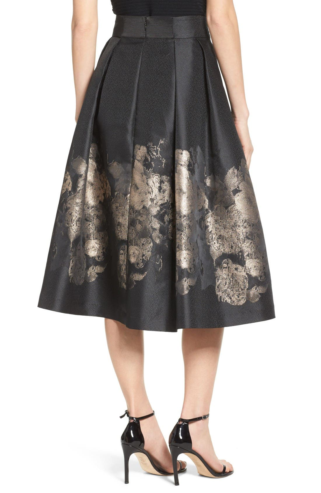 Alternate Image 3  - Eliza J Pleated Mikado Midi Skirt