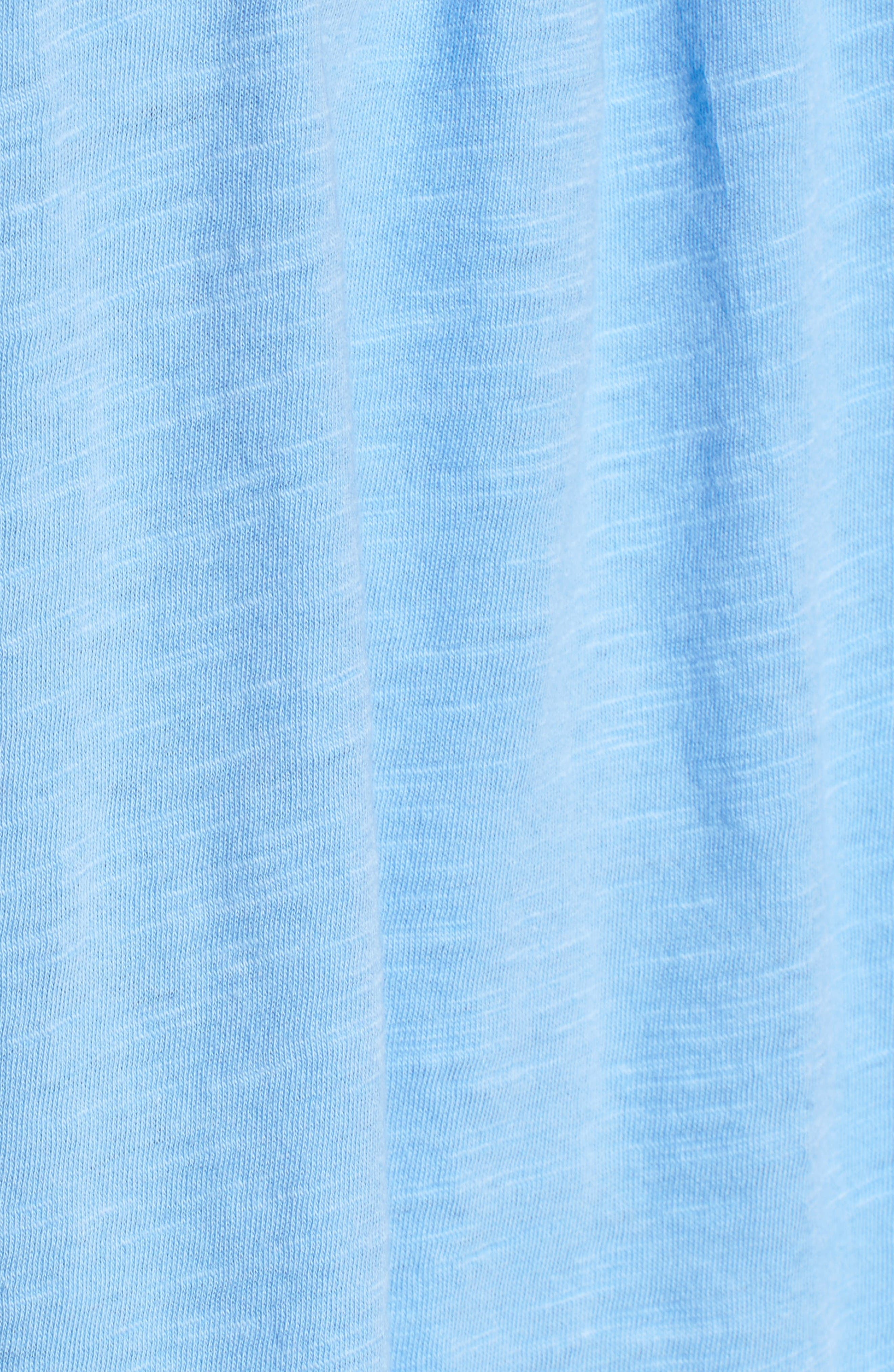 Alternate Image 5  - Caslon® Fringed Lace & Knit Tee (Regular & Petite)