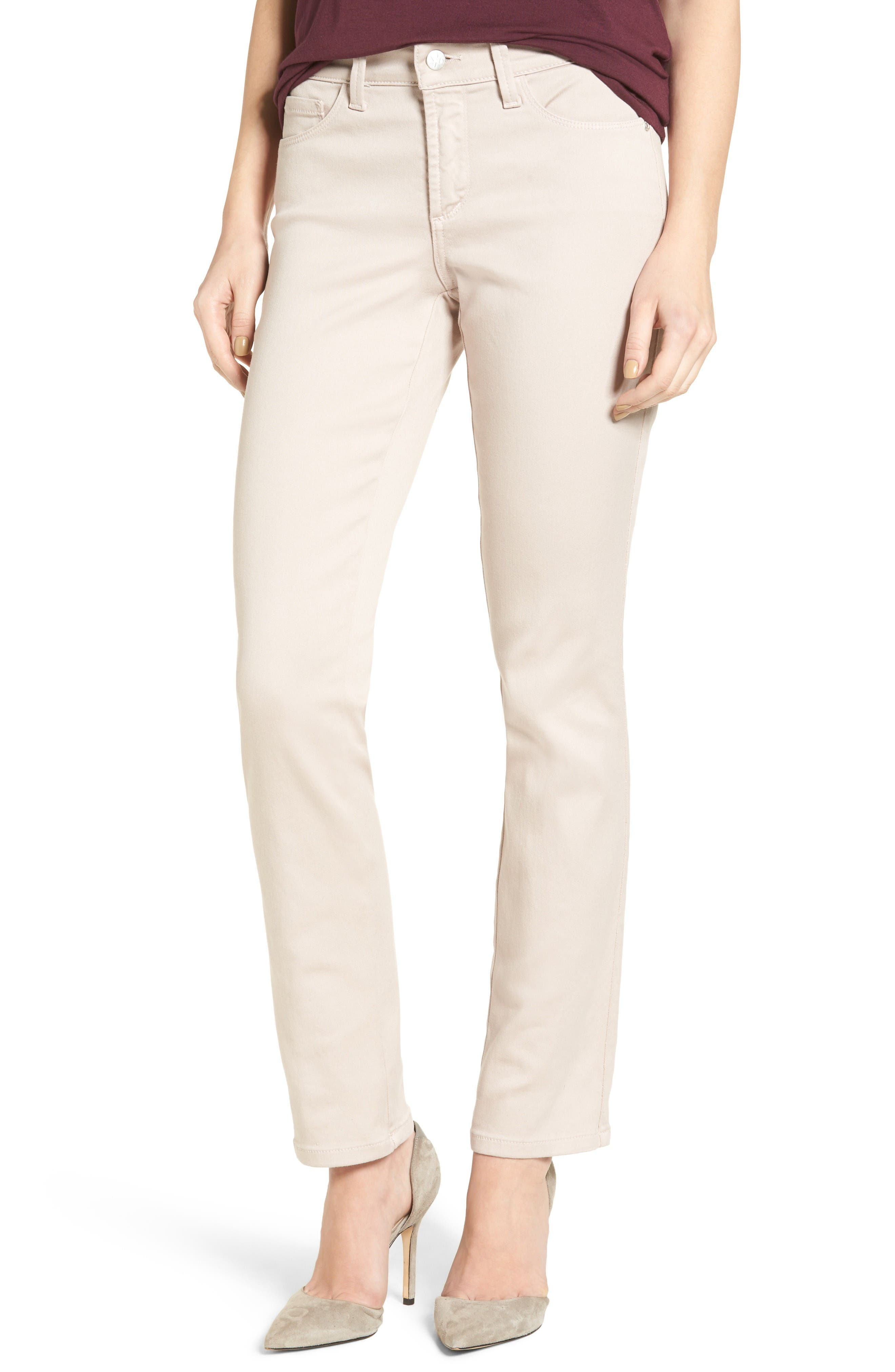 NYDJ 'Sheri' Stretch Twill Slim Leg Pants (Regular & Petite)